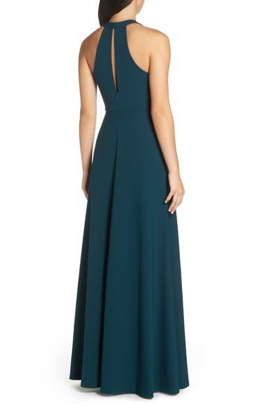 bdd15f5bbf3 Jenny Yoo Margot V-Neck Knit Crepe Gown