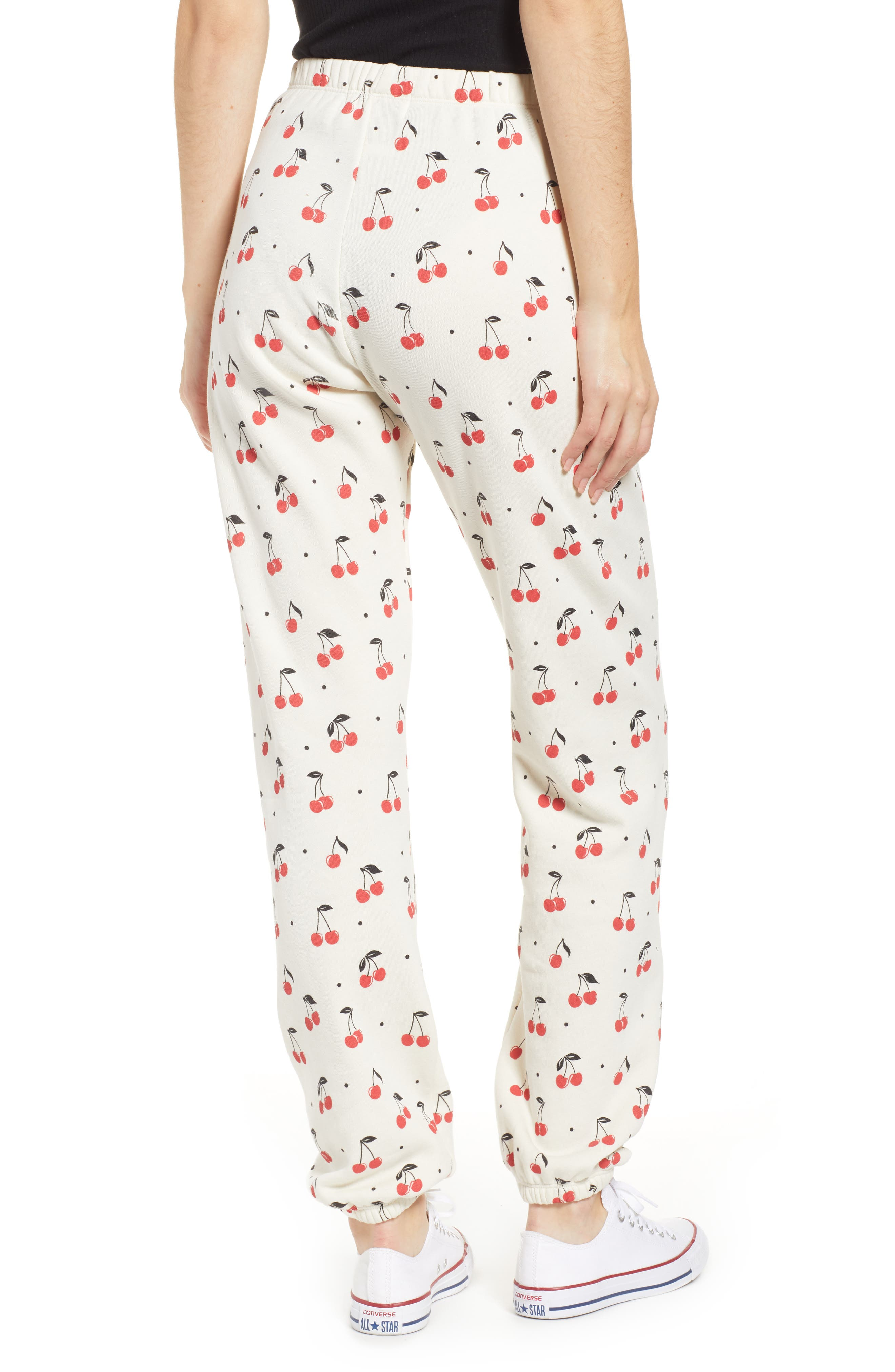 WILDFOX,                             Cherry Oh Baby Easy Sweatpants,                             Alternate thumbnail 2, color,                             VINTAGE LACE