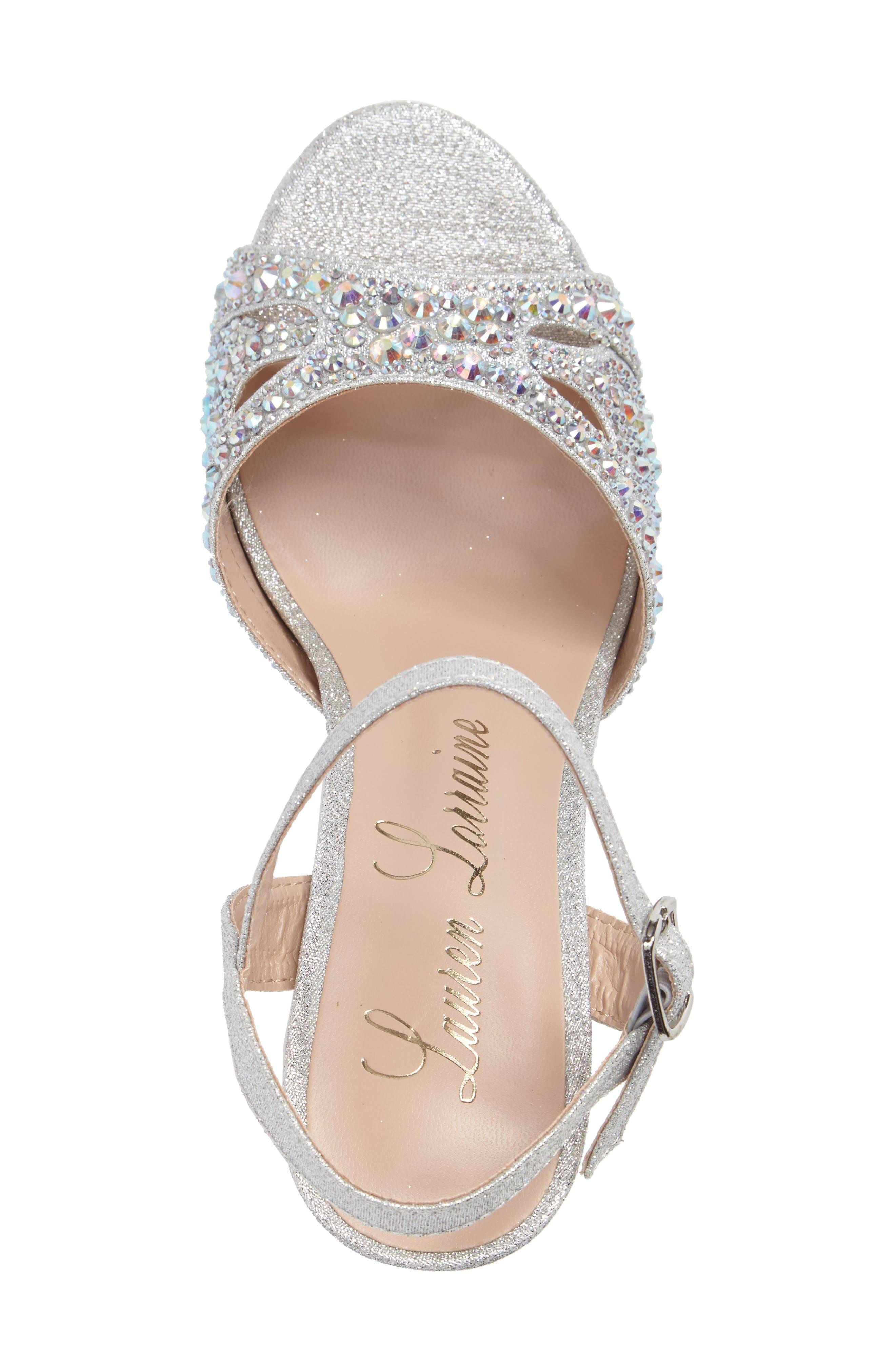Florence Crystal Embellished Sandal,                             Alternate thumbnail 5, color,