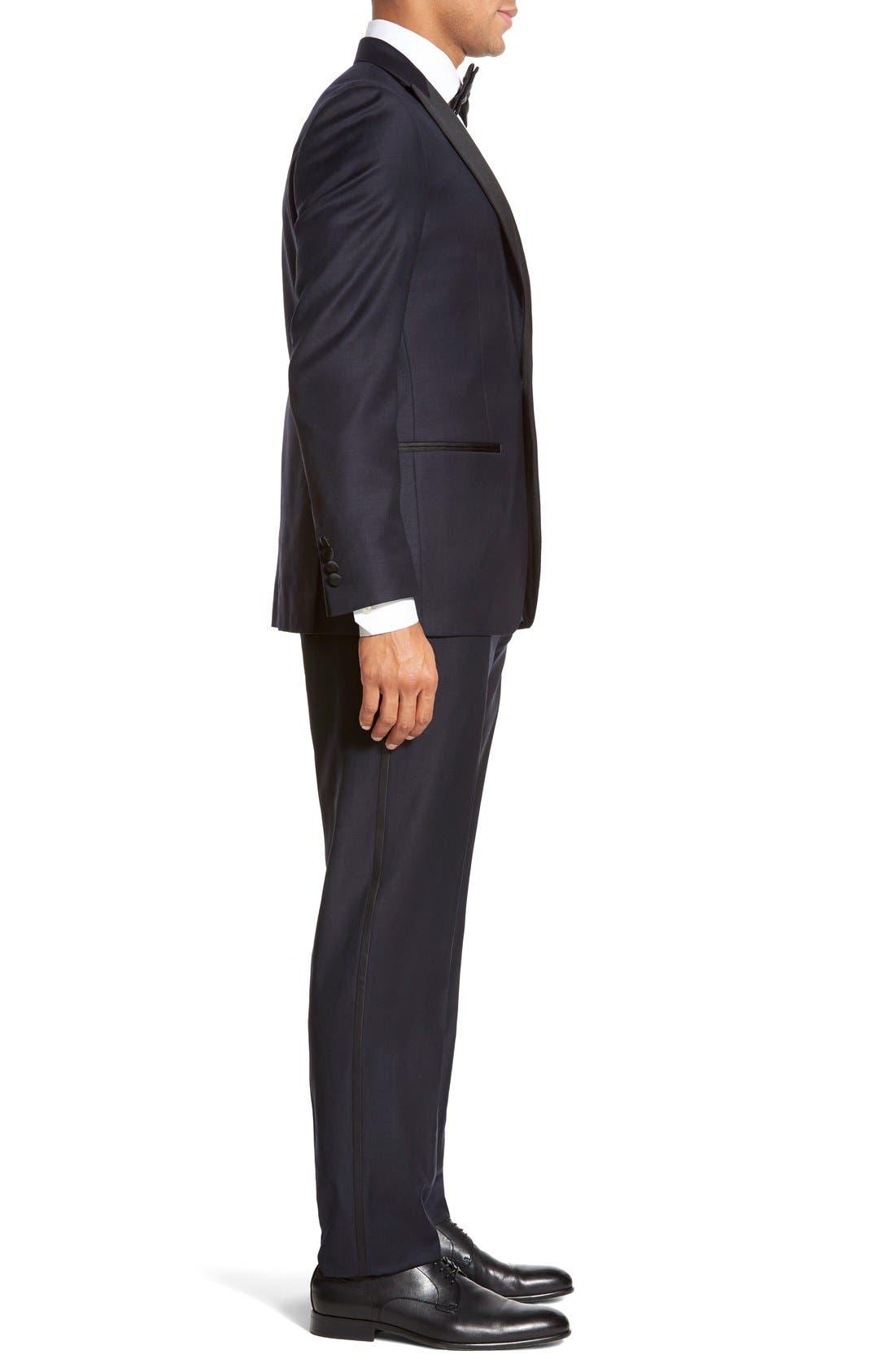 'Aston' Trim Fit Solid Wool Tuxedo,                             Alternate thumbnail 3, color,                             410