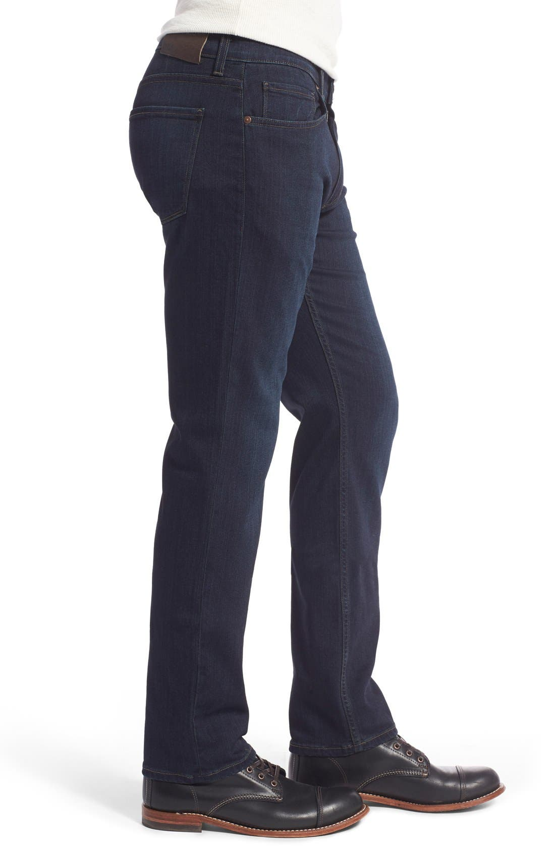Transcend - Lennox Straight Leg Jeans,                             Alternate thumbnail 3, color,                             CELLAR