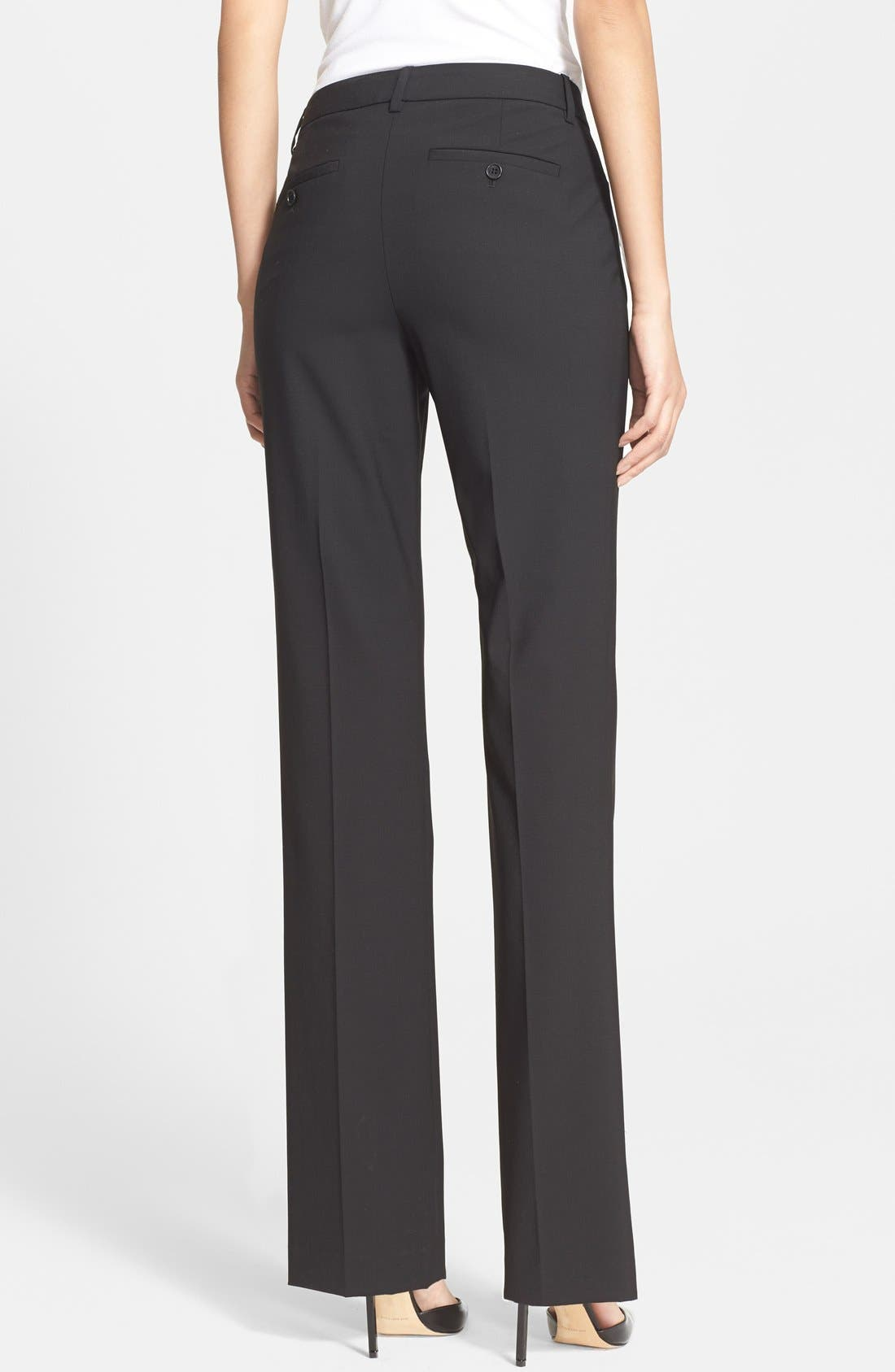 Custom Max Stretch Wool Pants,                             Alternate thumbnail 3, color,                             001