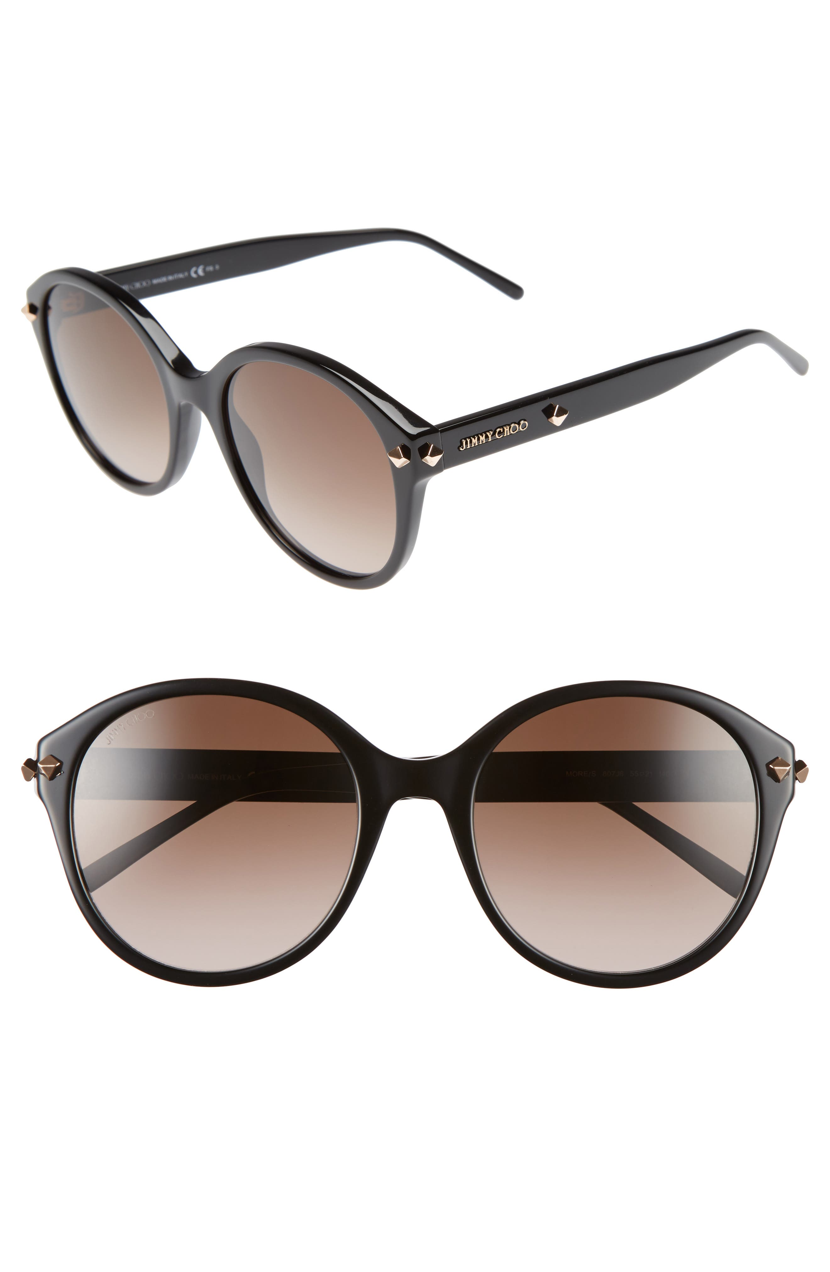 55mm Oversized Sunglasses,                             Main thumbnail 1, color,
