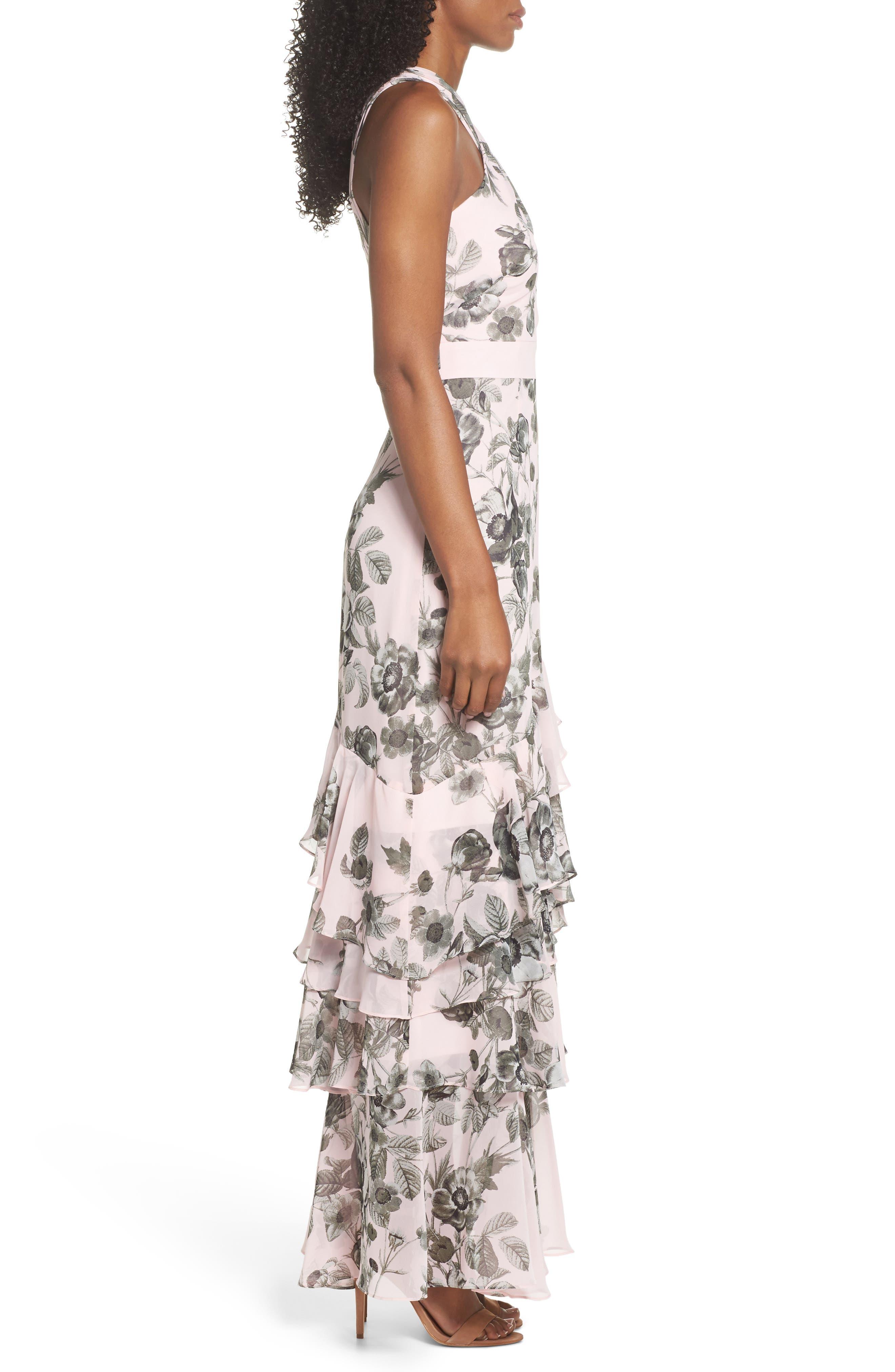 Halter Maxi Dress,                             Alternate thumbnail 3, color,                             660
