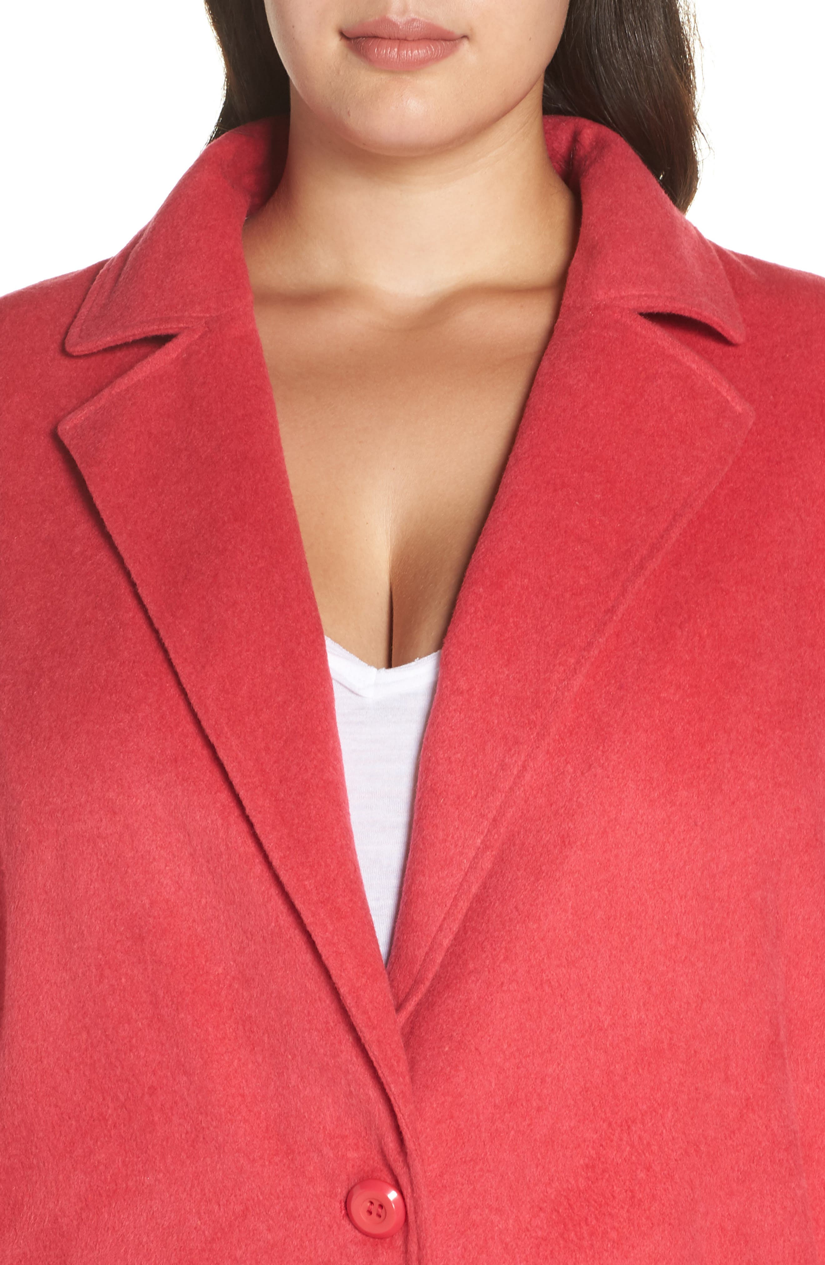 Single Button Long Jacket,                             Alternate thumbnail 4, color,                             PINK TEABERRY