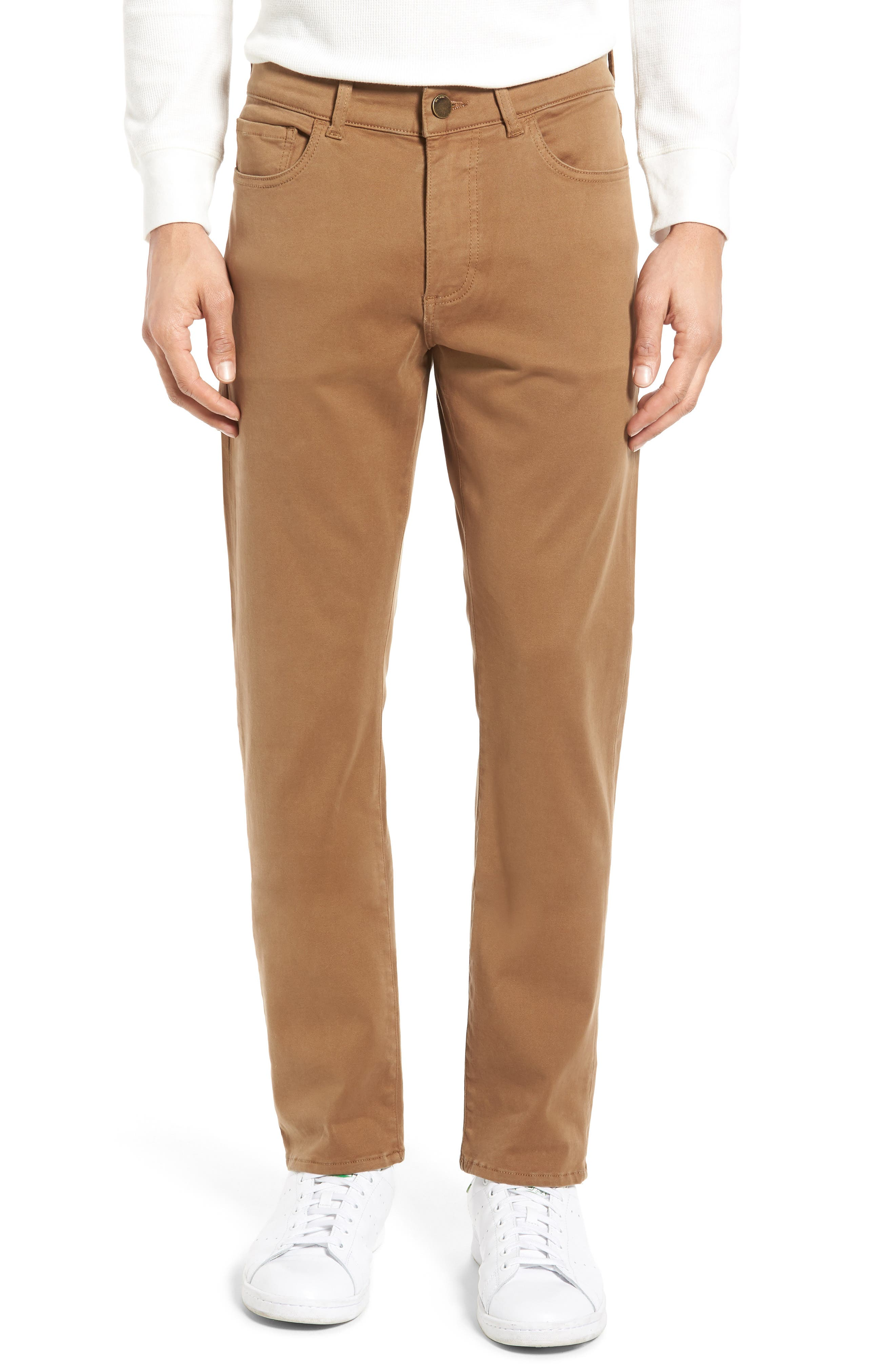Russell Slim Fit Sateen Twill Pants,                             Main thumbnail 4, color,