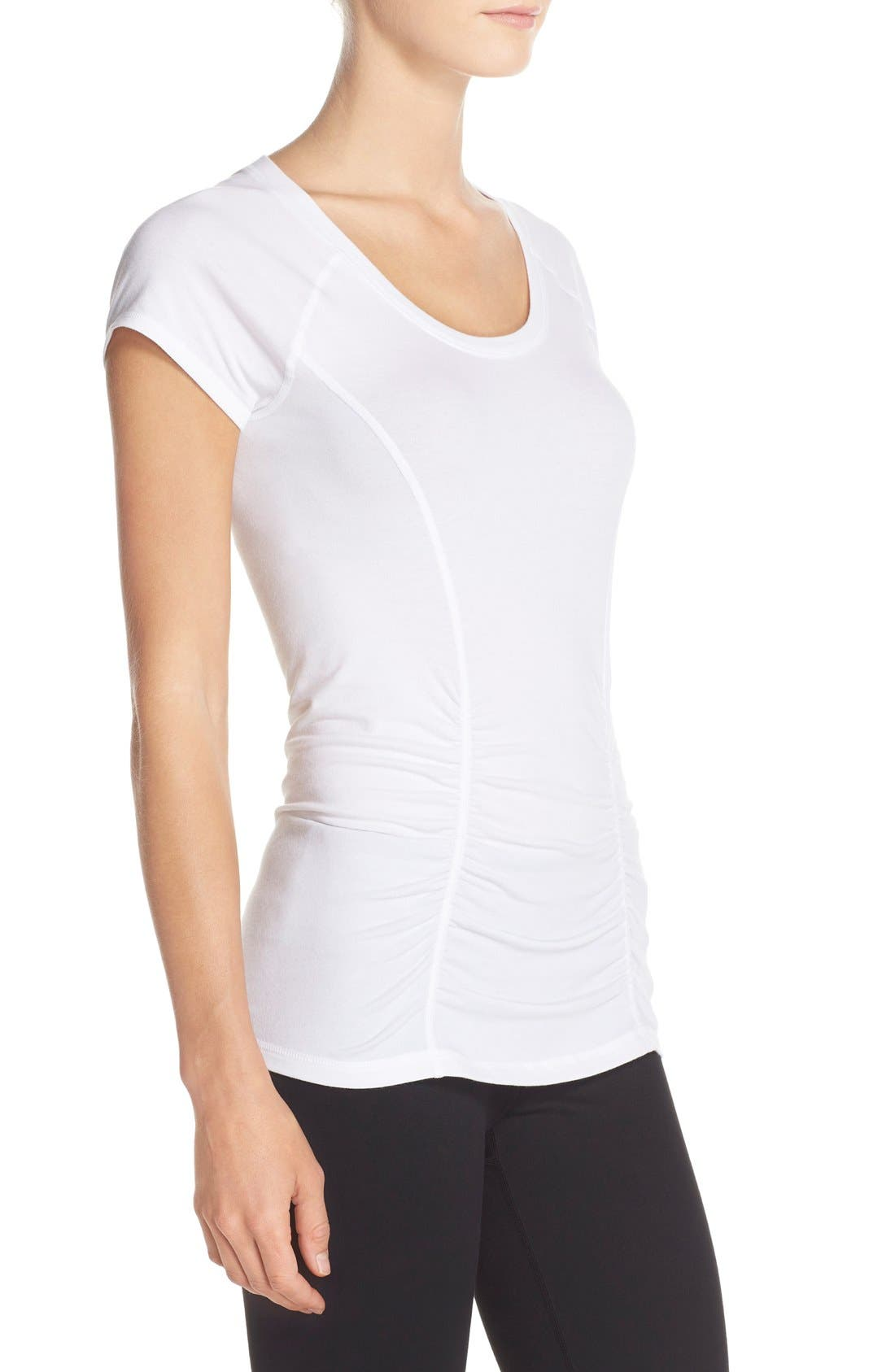 'Z 6' Ruched Tee,                             Alternate thumbnail 24, color,