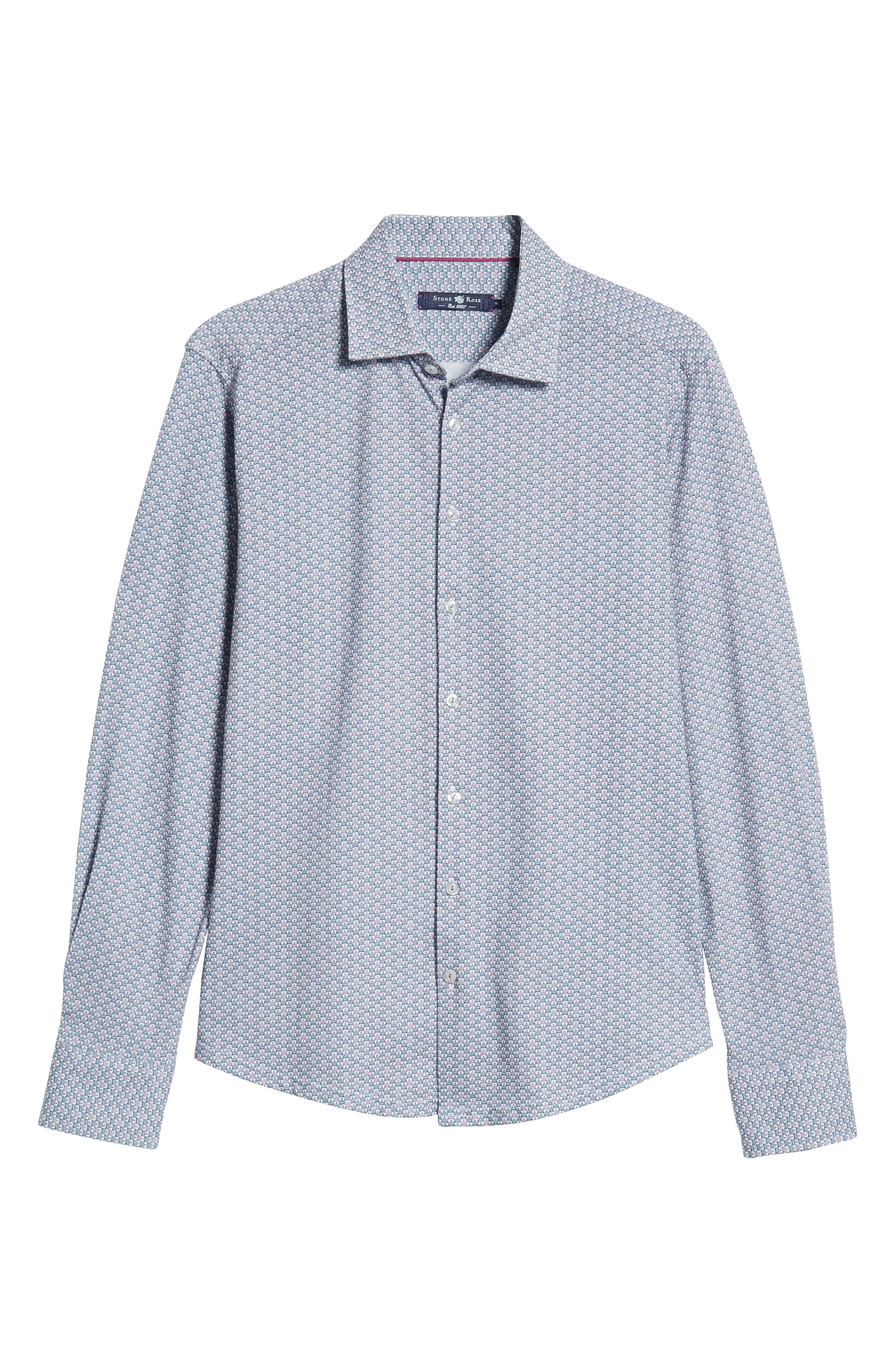 Trim Fit Knit Sport Shirt,                             Alternate thumbnail 5, color,                             100