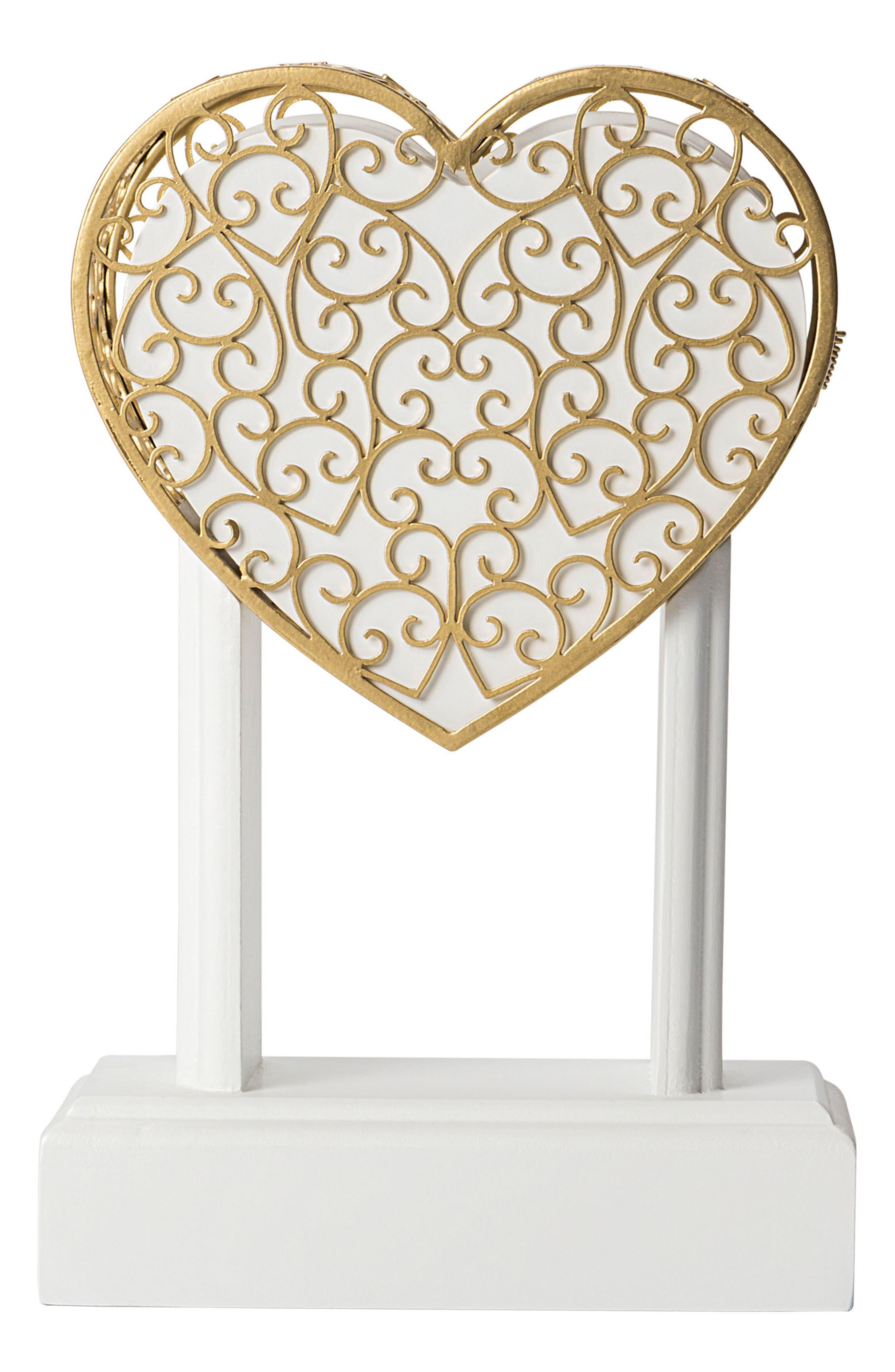 Key To My Heart Monogram Vow Unity Keepsake Box,                             Main thumbnail 1, color,                             710