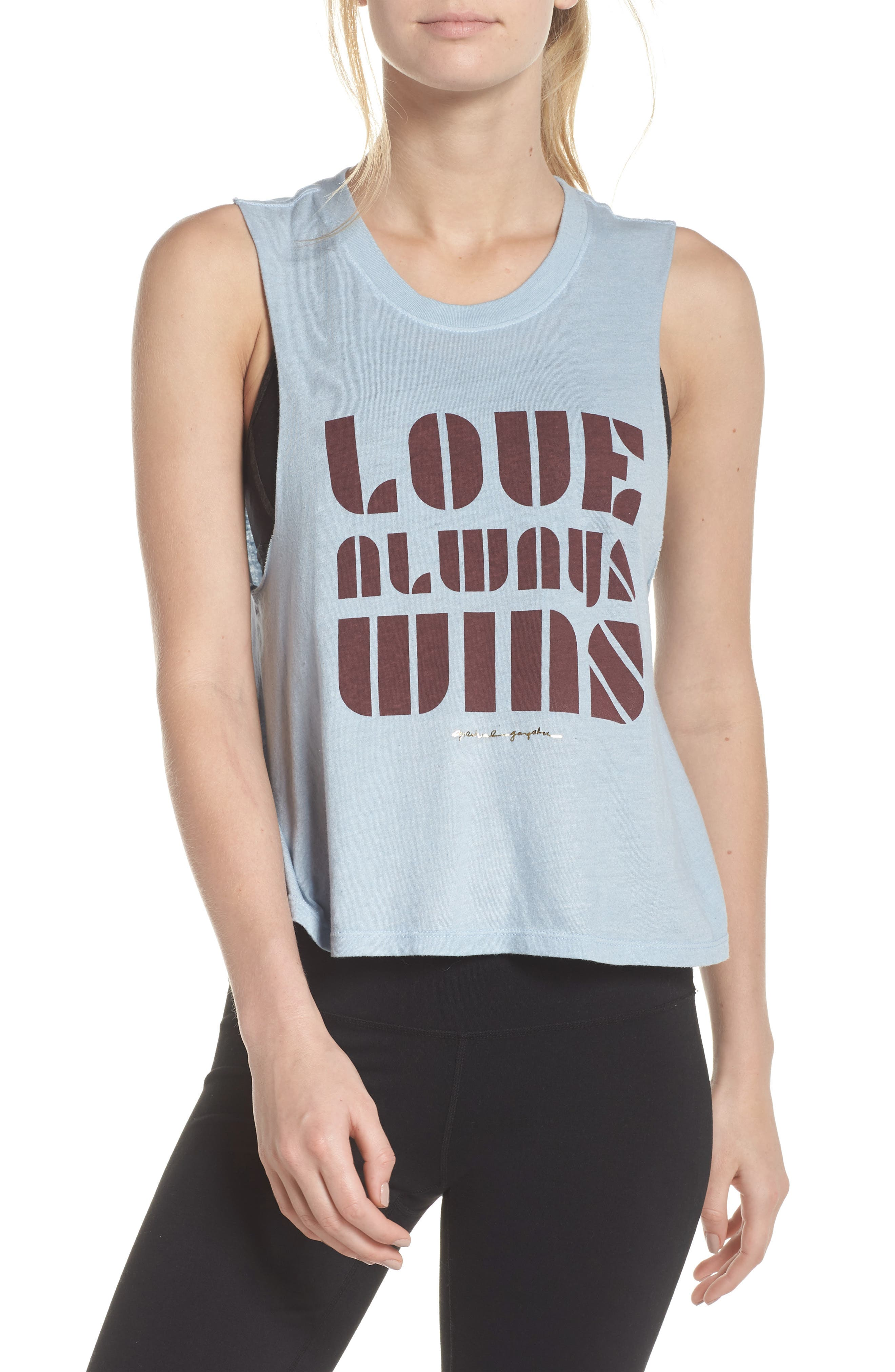 Love Always Wins Crop Tank,                             Main thumbnail 1, color,                             450