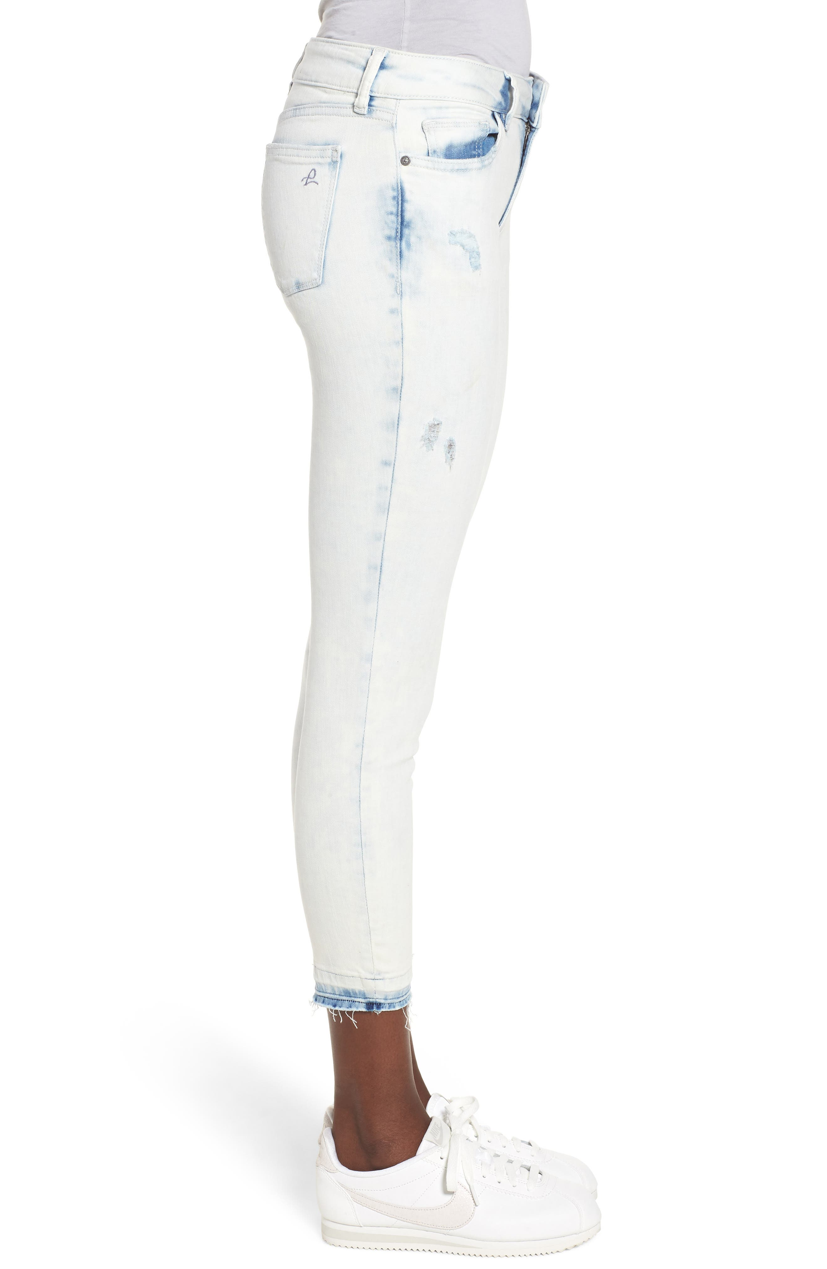 Florence Instasculpt Crop Skinny Jeans,                             Alternate thumbnail 3, color,                             MITCHELL