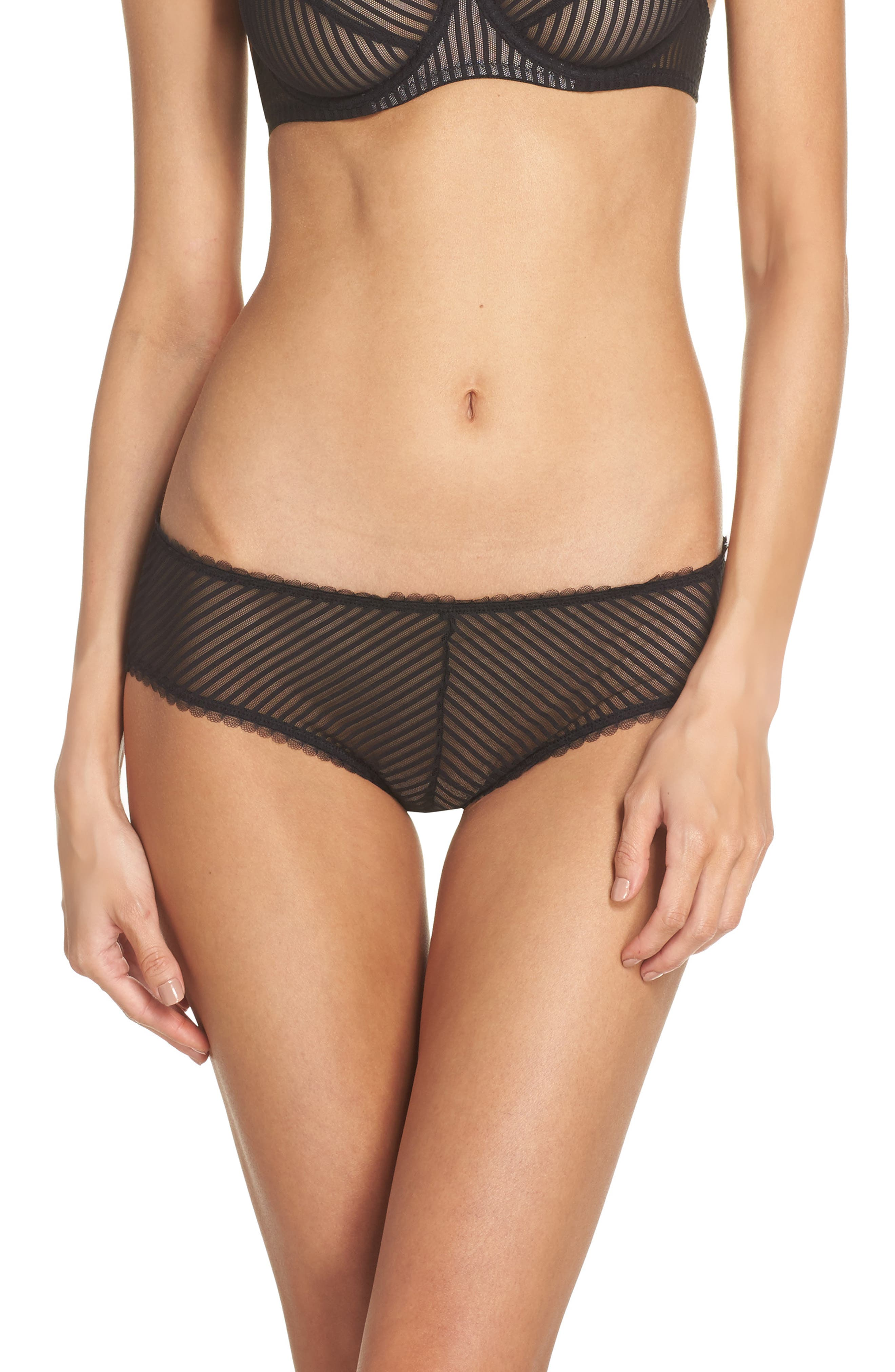 Shiny Stripe Hipster Panties,                         Main,                         color, 001