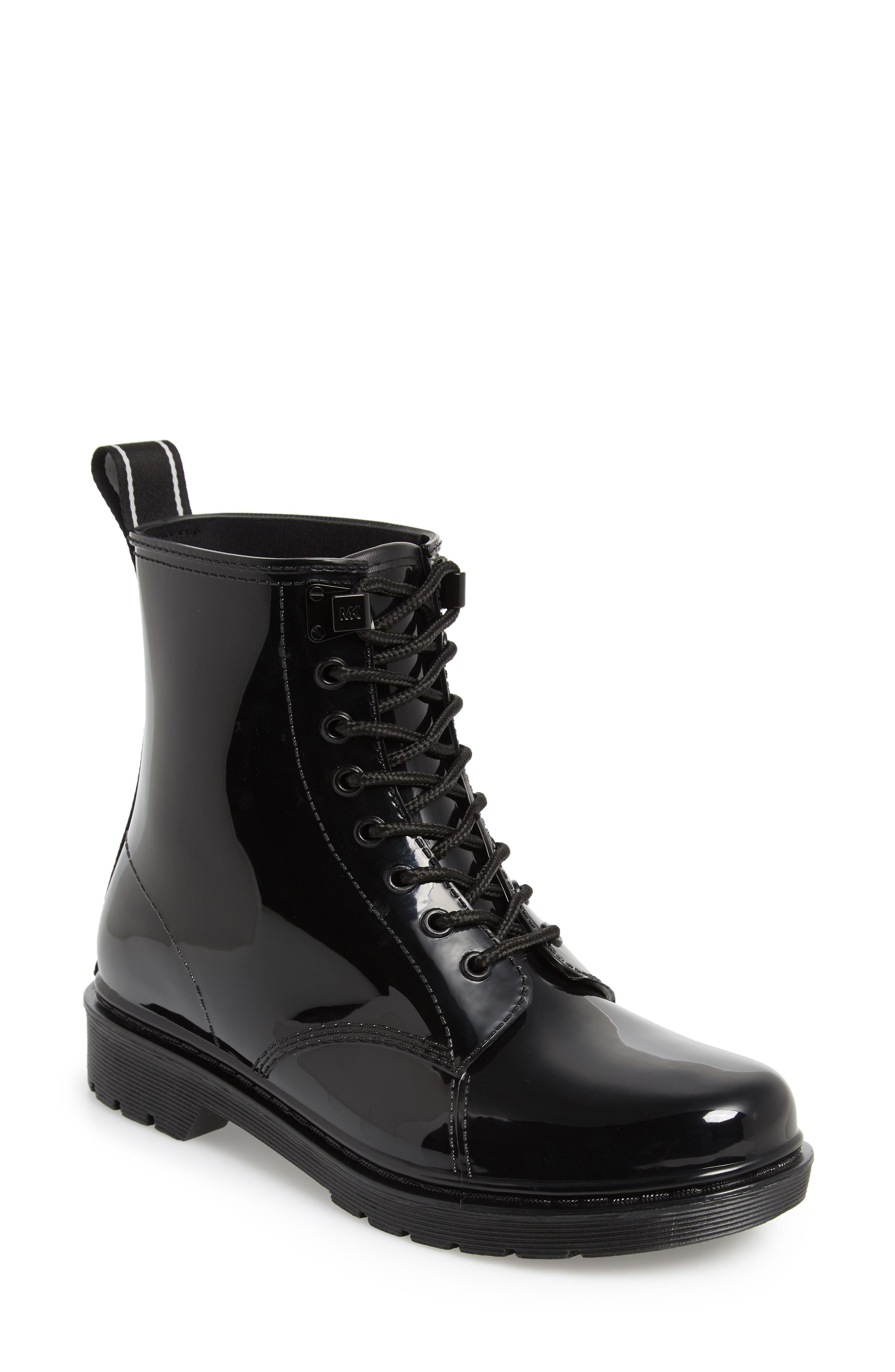 Tavie Rain Boot,                             Main thumbnail 1, color,                             BLACK