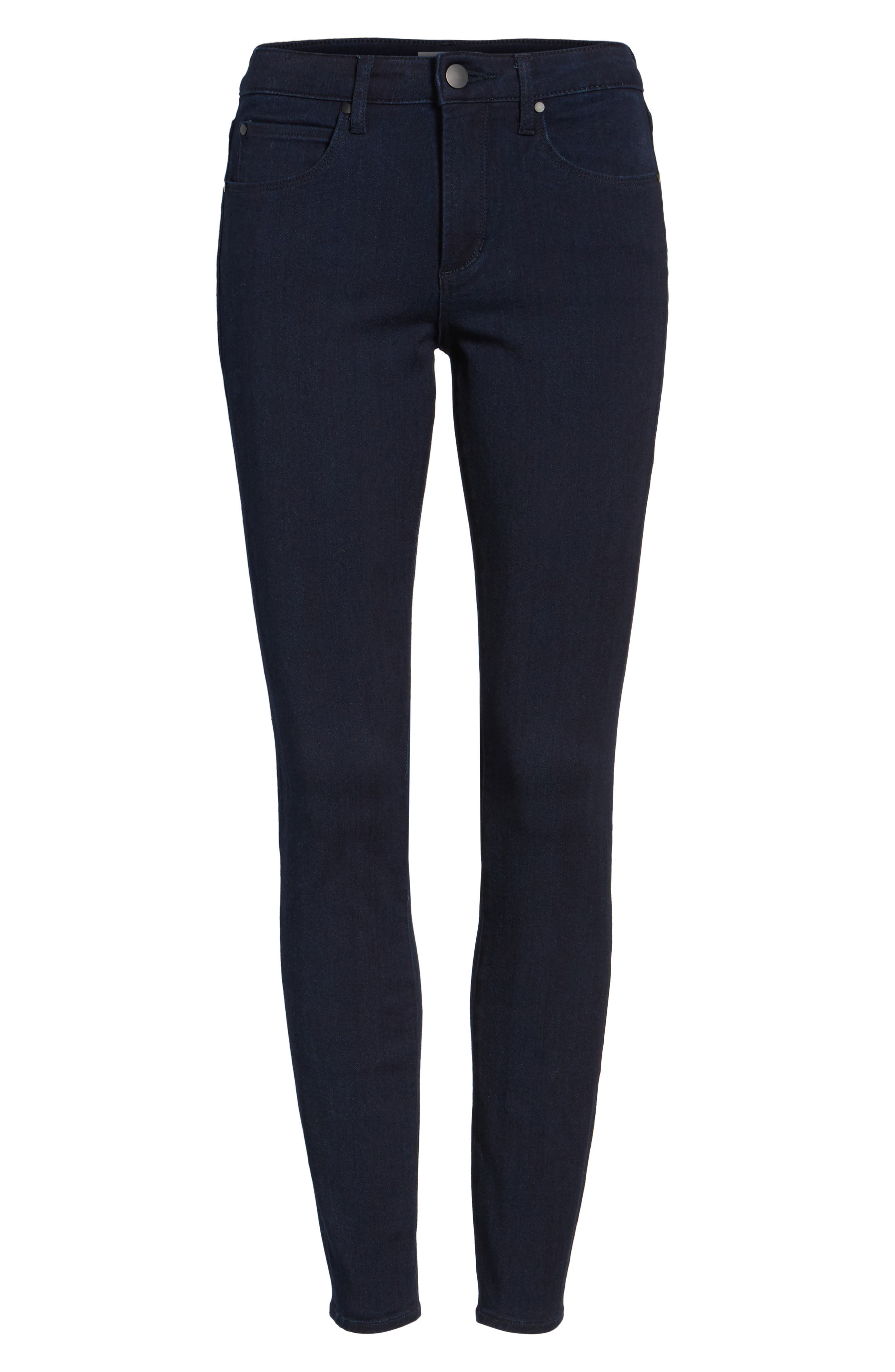 Mid Rise Skinny Jeans,                             Alternate thumbnail 6, color,                             401