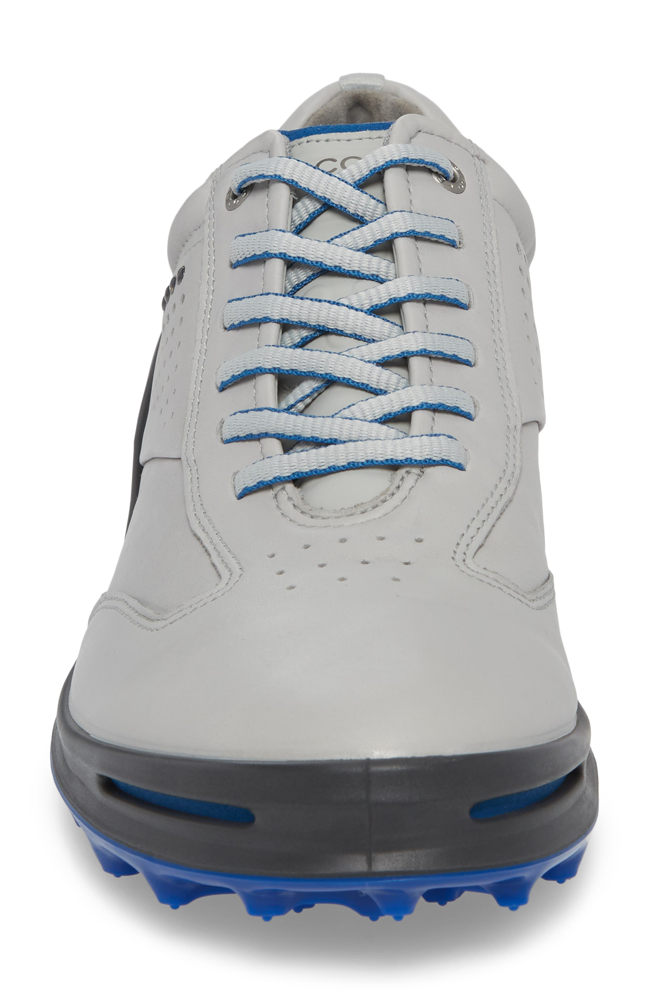 Cage Pro Golf Shoe,                             Alternate thumbnail 4, color,                             CONCRETE/ BERMUDA BLUE LEATHER