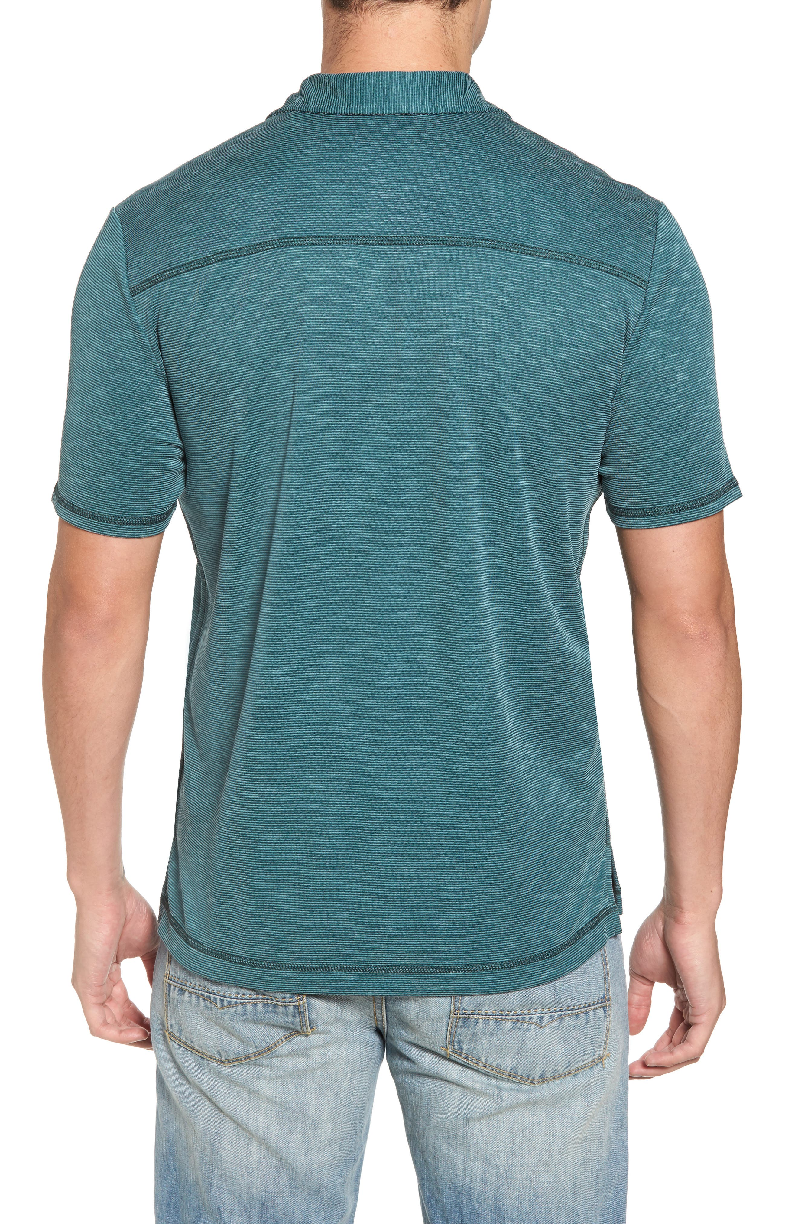 New Double Tempo Spectator Jersey Polo,                             Alternate thumbnail 2, color,                             FOREST GREEN