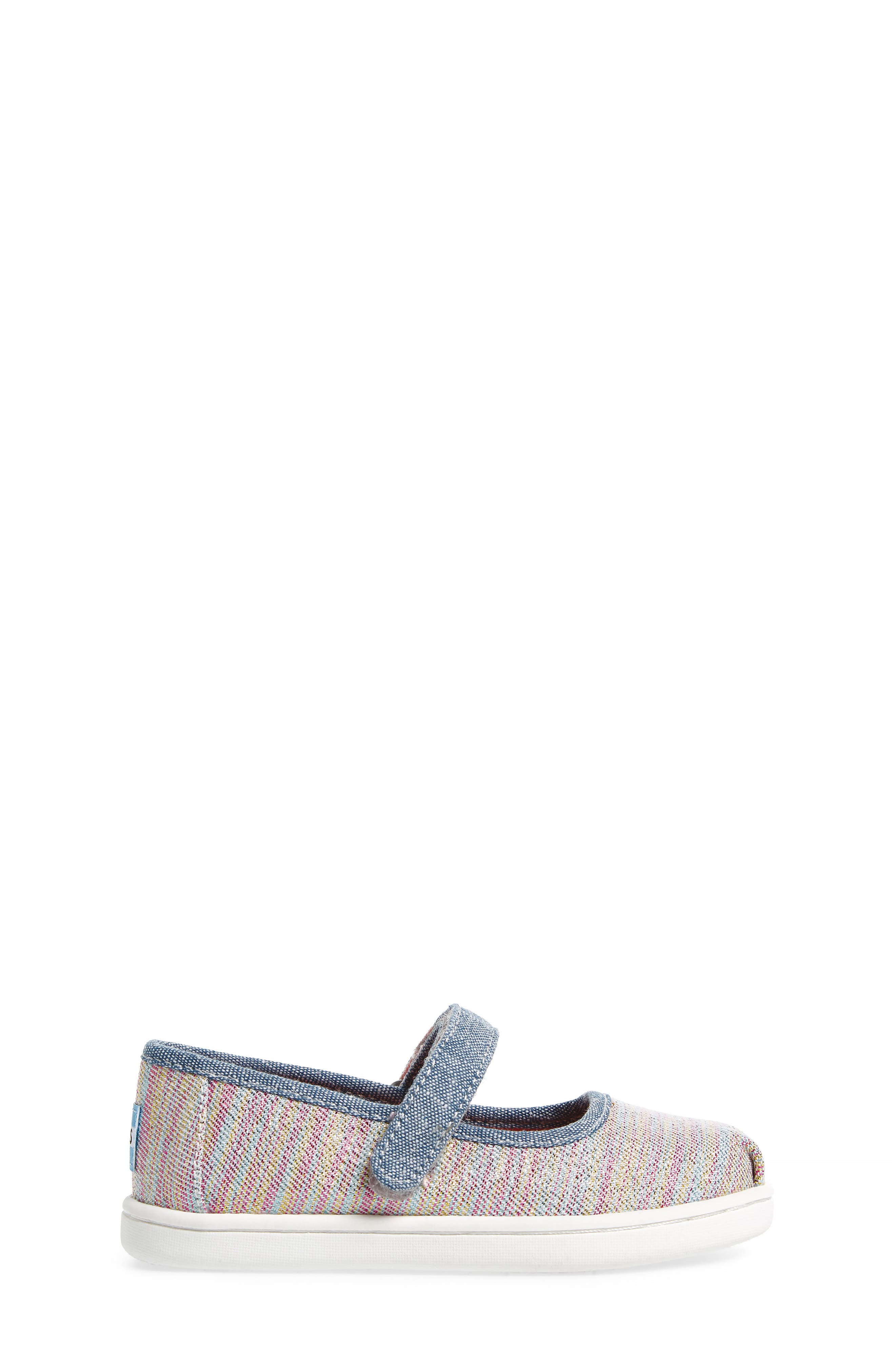 Mary Jane Sneaker,                             Alternate thumbnail 3, color,                             PINK MULTI TWILL GLIMMER