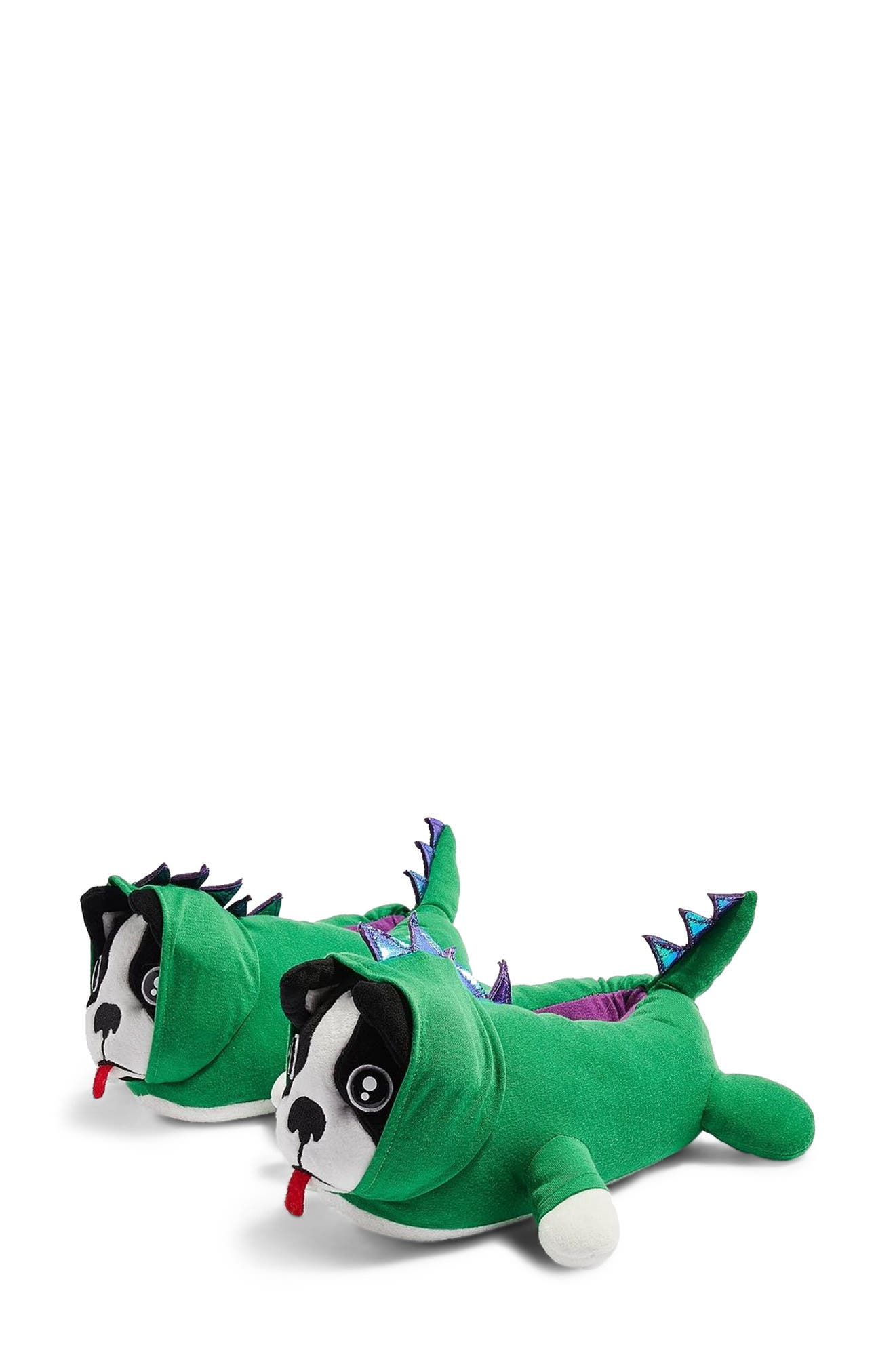 Dino Dog Slippers, Main, color, 300
