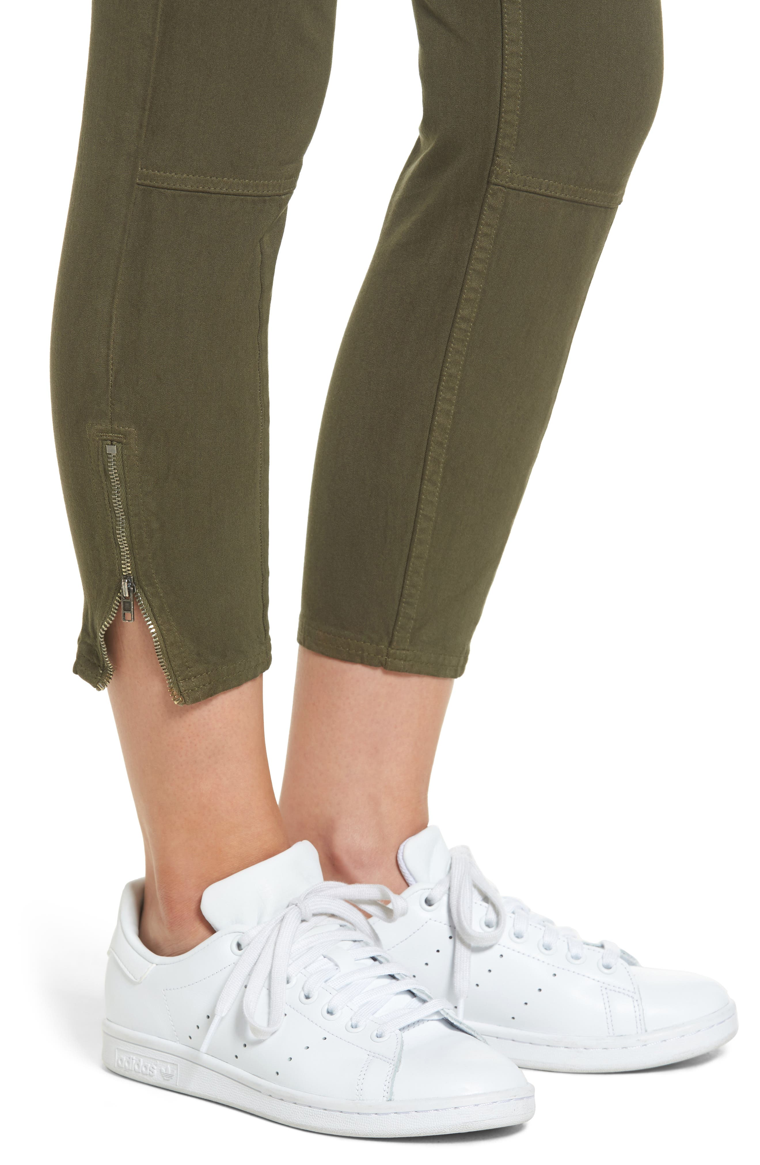 Stretch Twill Cargo Pants,                             Alternate thumbnail 4, color,                             001