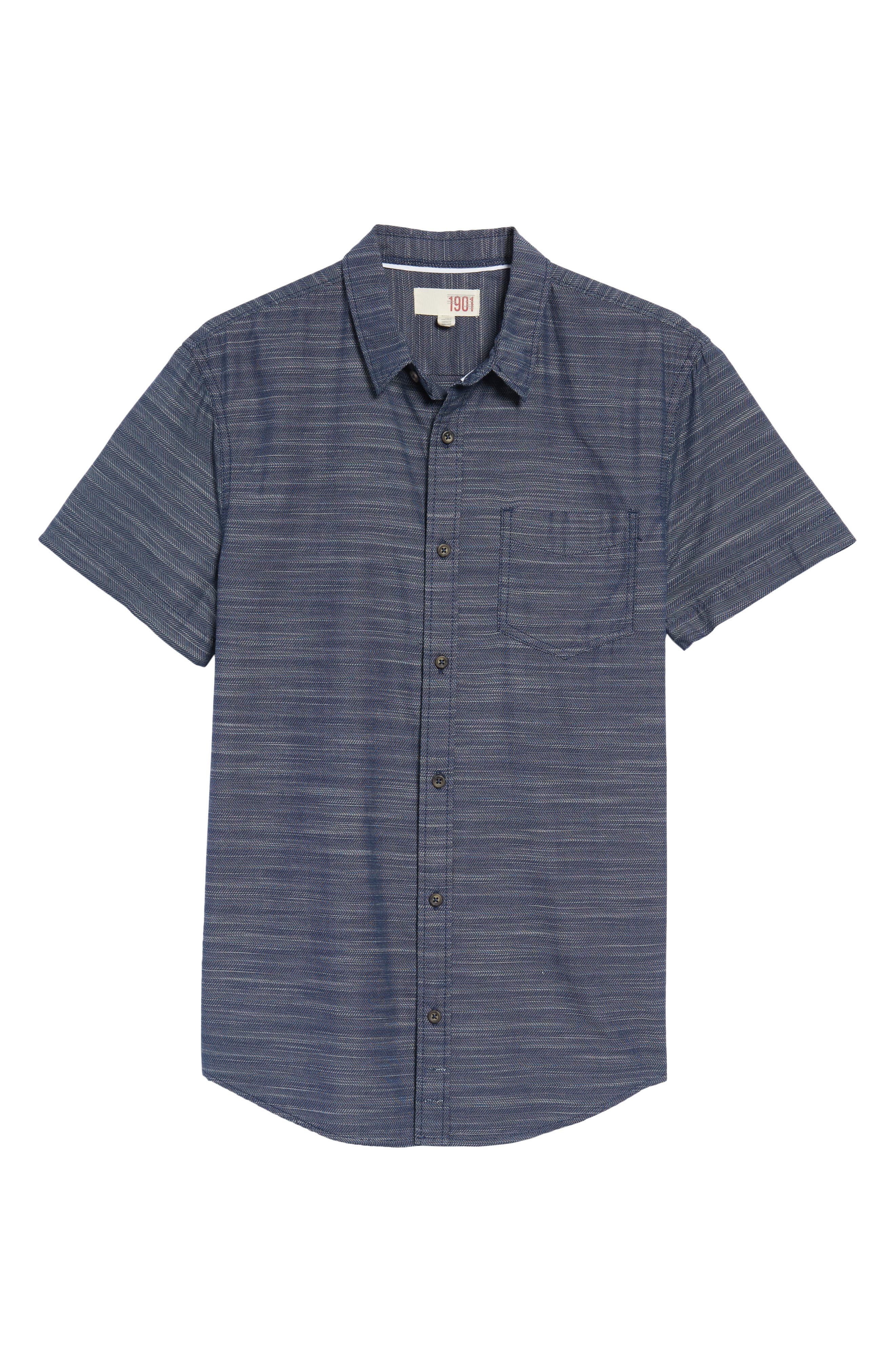 Herringbone Chambray Shirt,                             Alternate thumbnail 17, color,