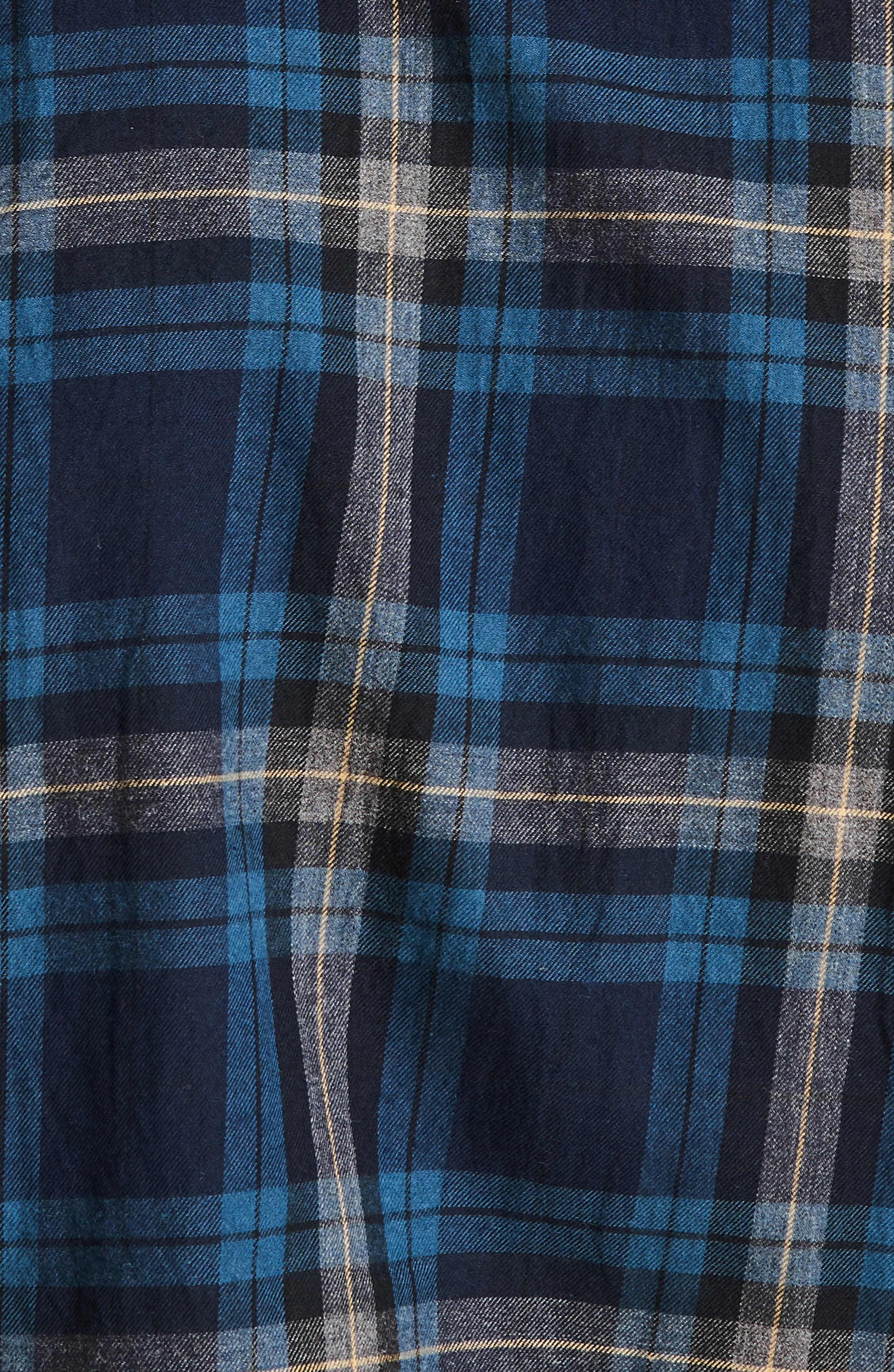 Stapleton Highland Check Sport Shirt,                             Alternate thumbnail 7, color,                             NAVY