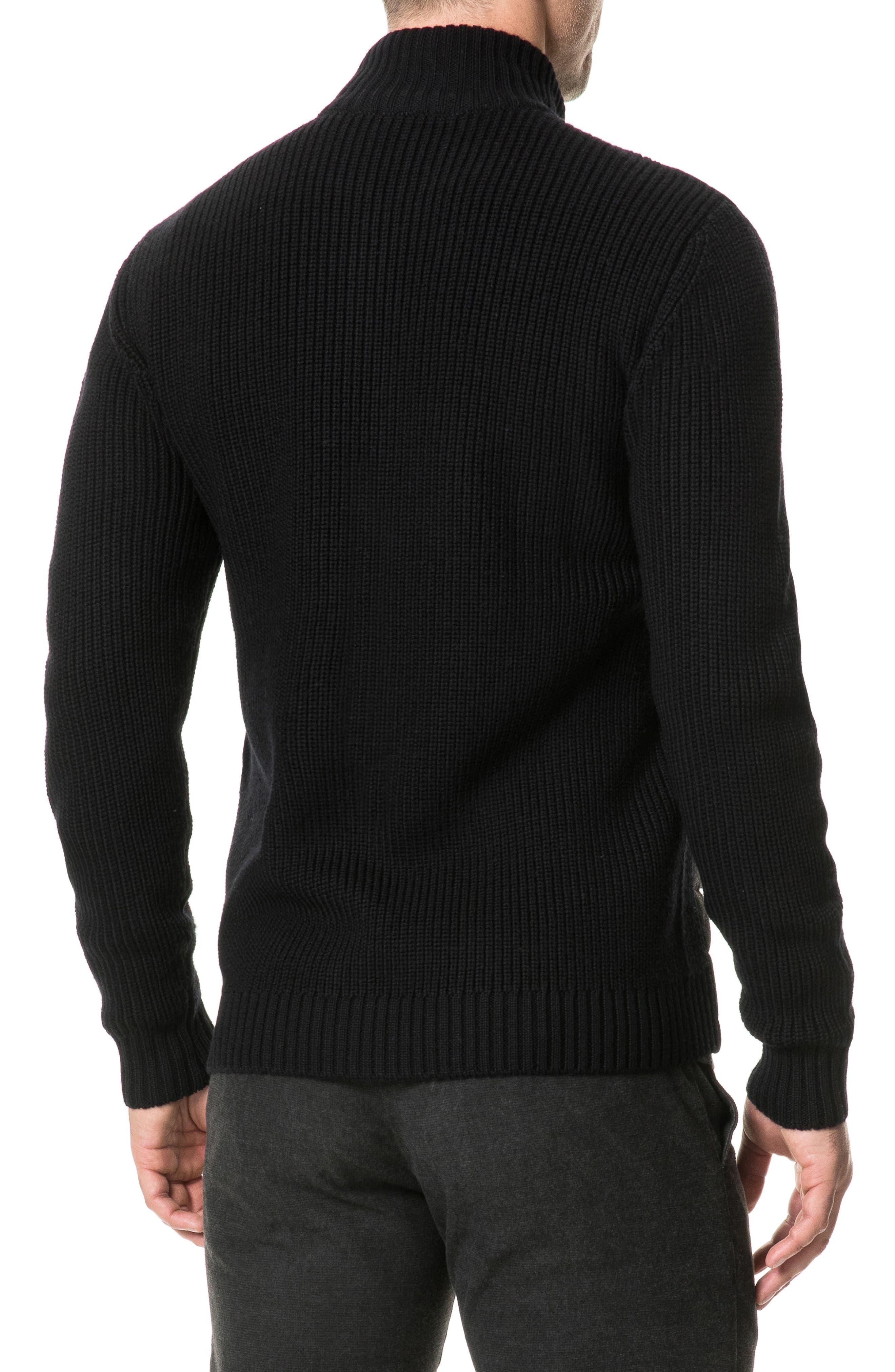 Greerton Regular Fit Zip Sweater,                             Alternate thumbnail 2, color,                             ONYX