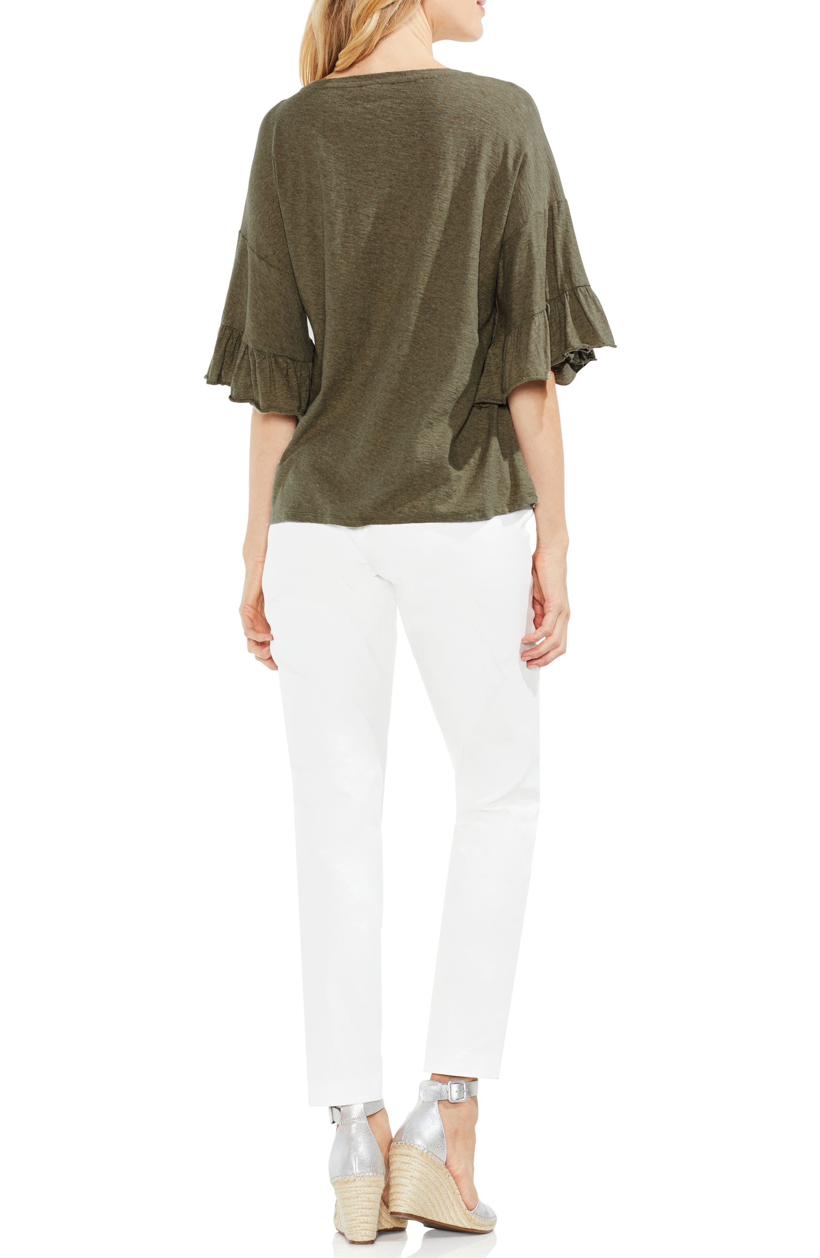 Tiered Ruffle Sleeve Top,                             Alternate thumbnail 3, color,                             371