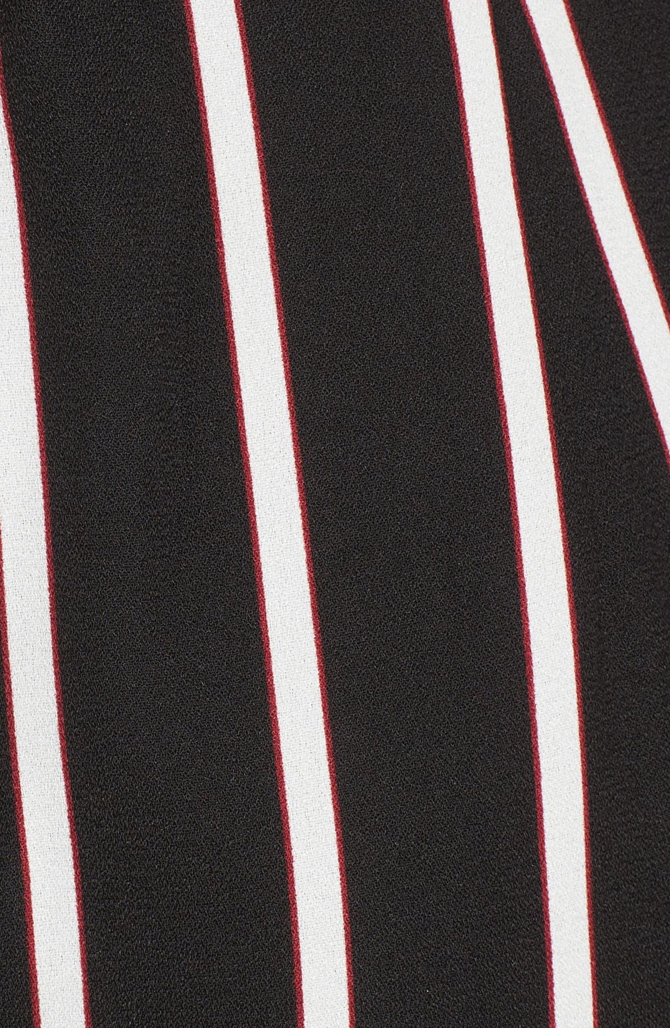 Tie Waist Wide Leg Jumpsuit,                             Alternate thumbnail 5, color,                             002