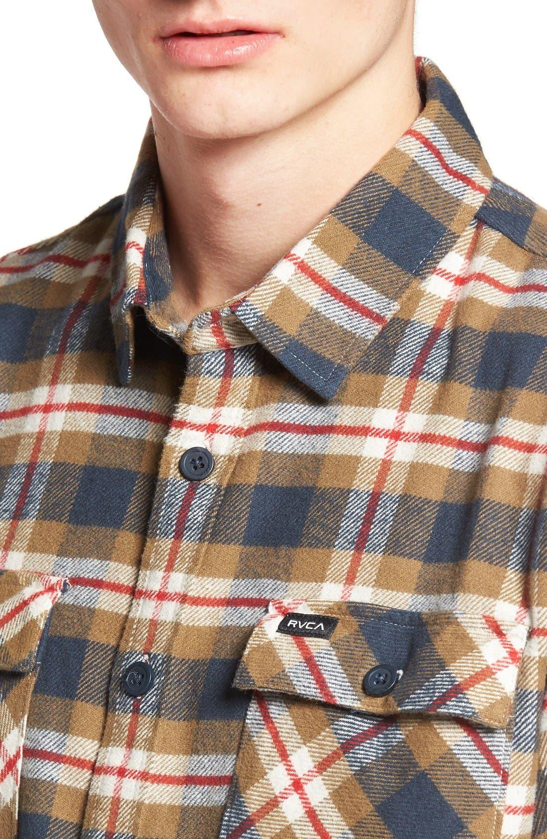'That'll Work' Trim Fit Plaid Flannel Shirt,                             Alternate thumbnail 11, color,