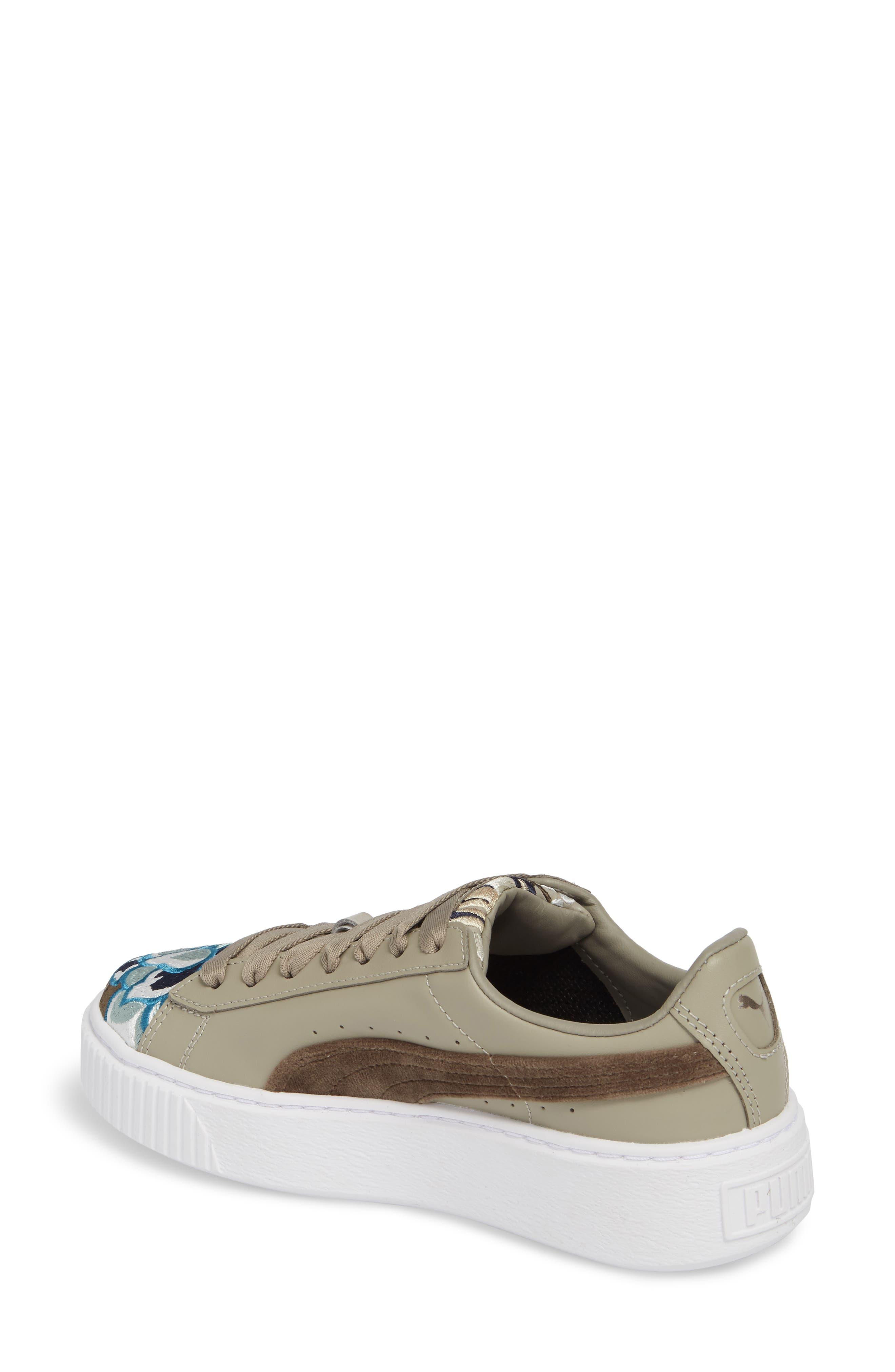 Platform Hyper Embroidered Sneaker,                             Alternate thumbnail 3, color,