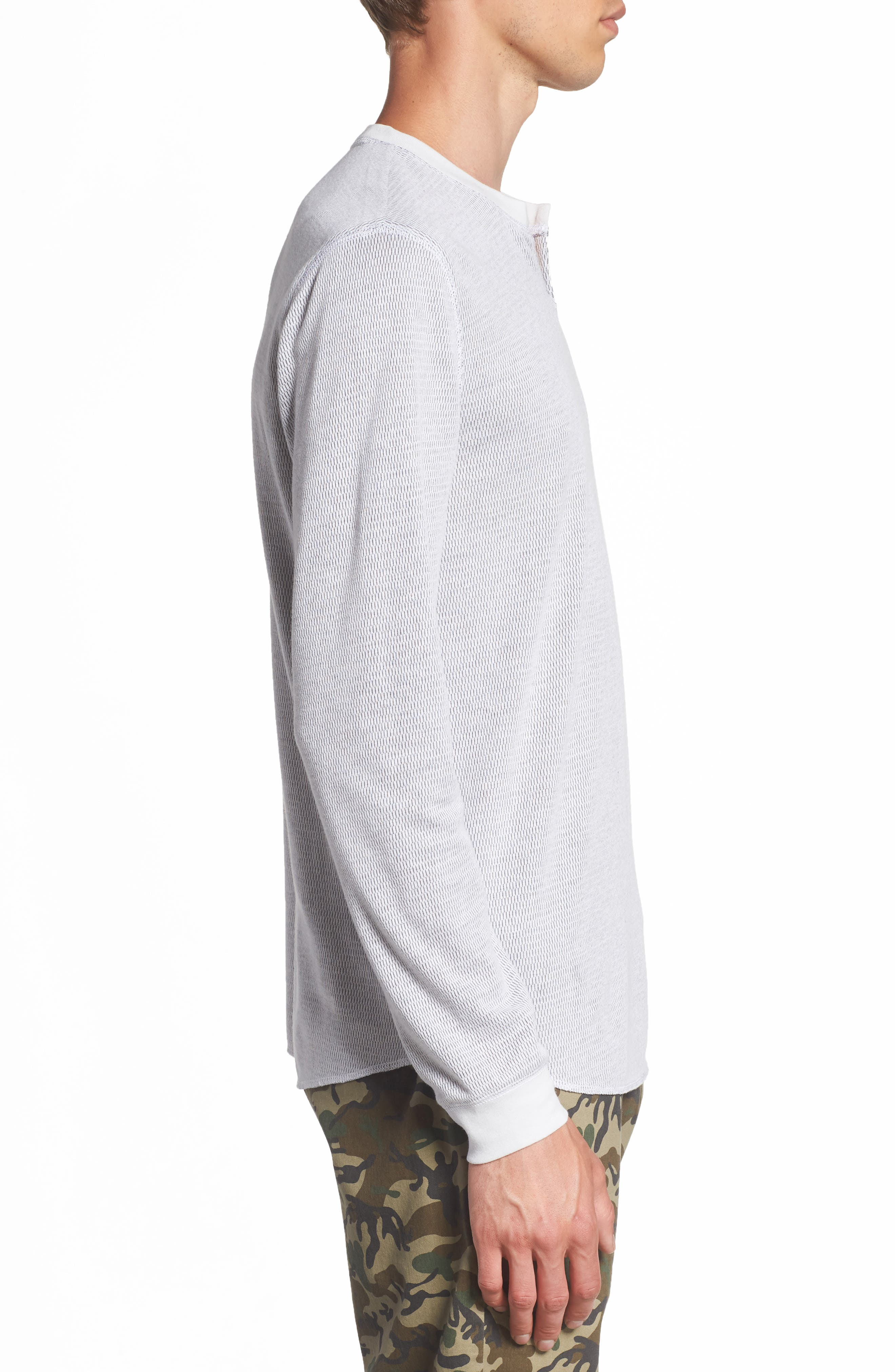 Notch Neck Thermal T-Shirt,                             Alternate thumbnail 17, color,