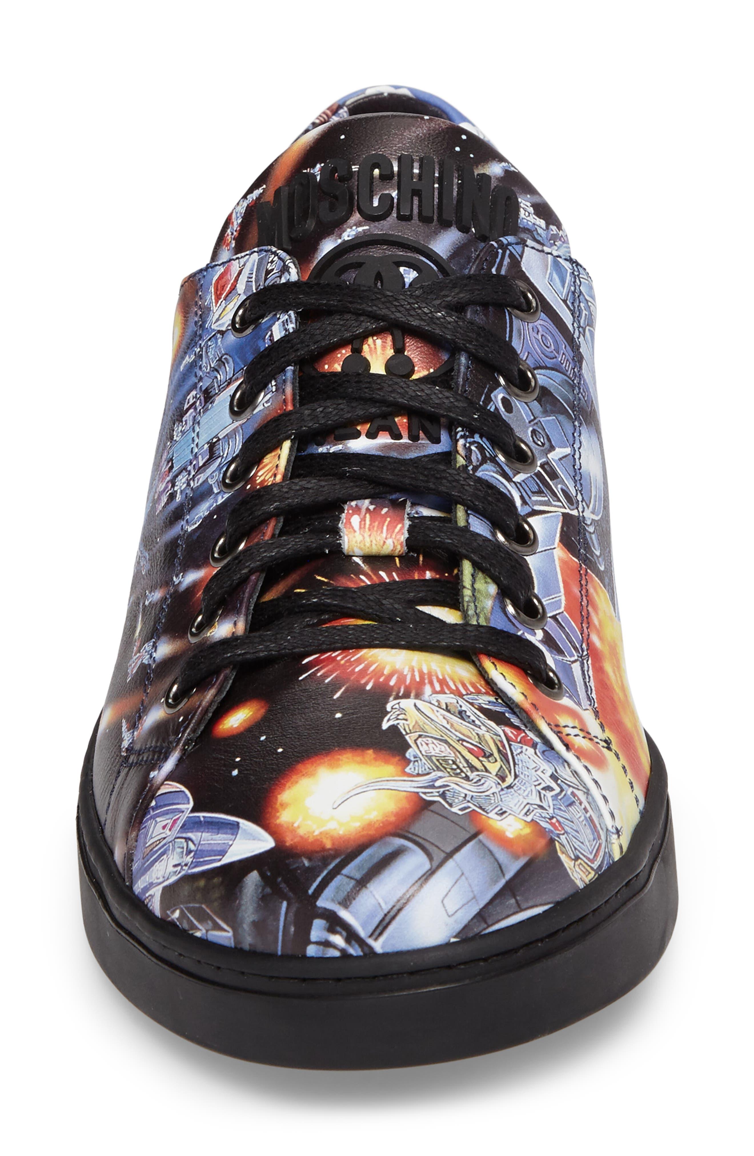 Transformers Print Low Top Sneaker,                             Alternate thumbnail 4, color,                             004