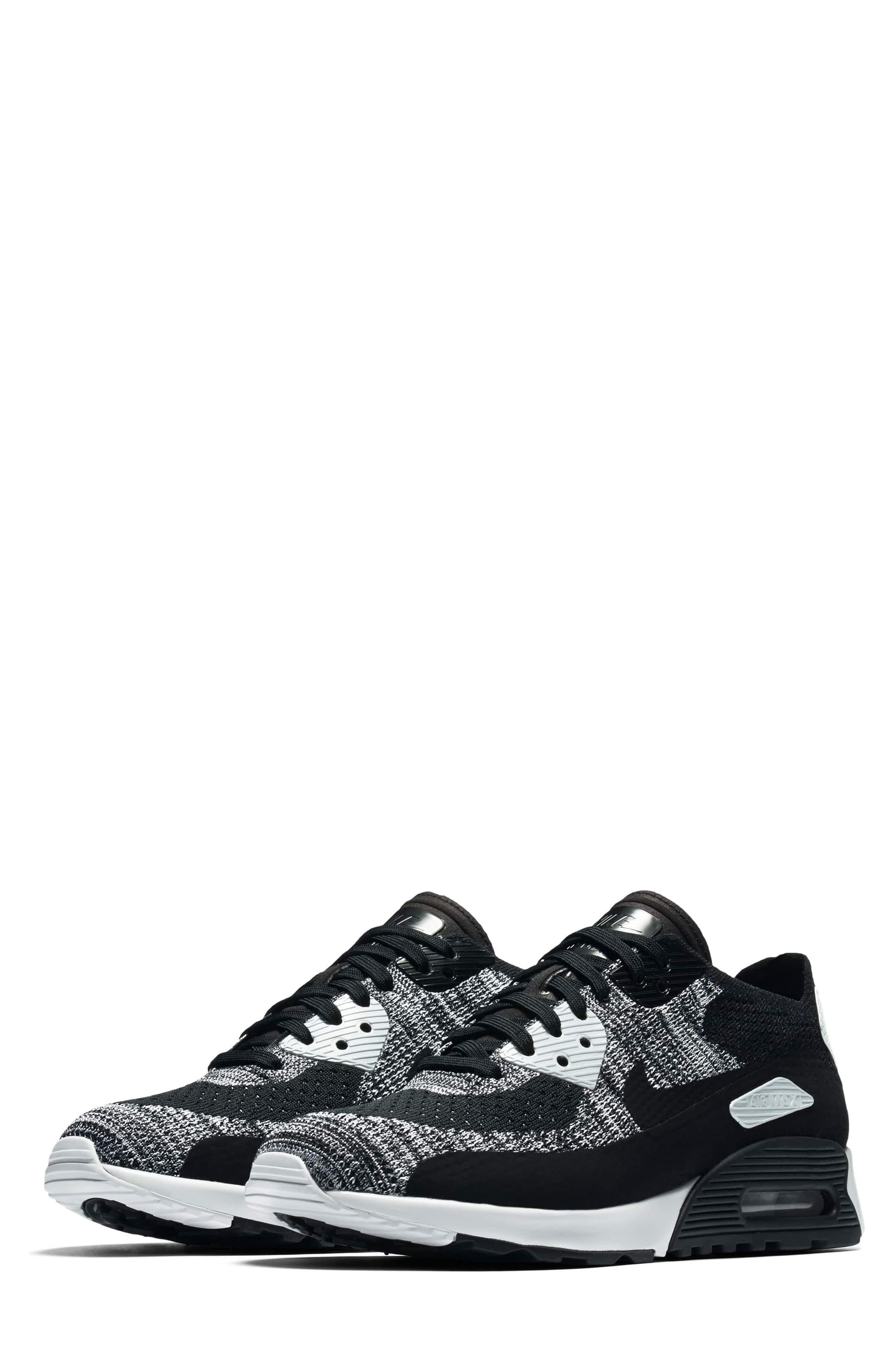 Air Max 90 Flyknit Ultra 2.0 Sneaker,                             Main thumbnail 1, color,                             002