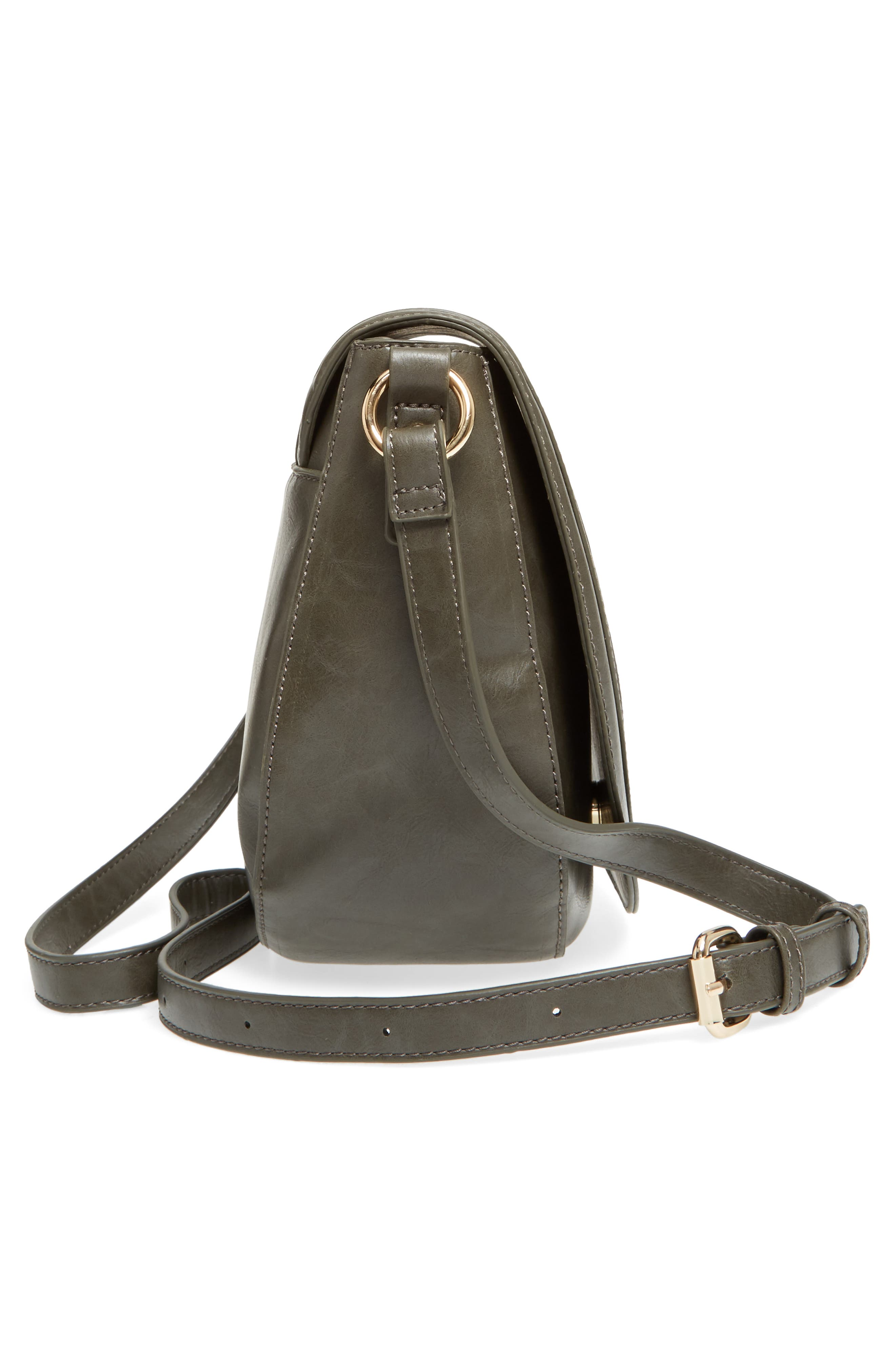 Piri Faux Leather Saddle Bag,                             Alternate thumbnail 14, color,