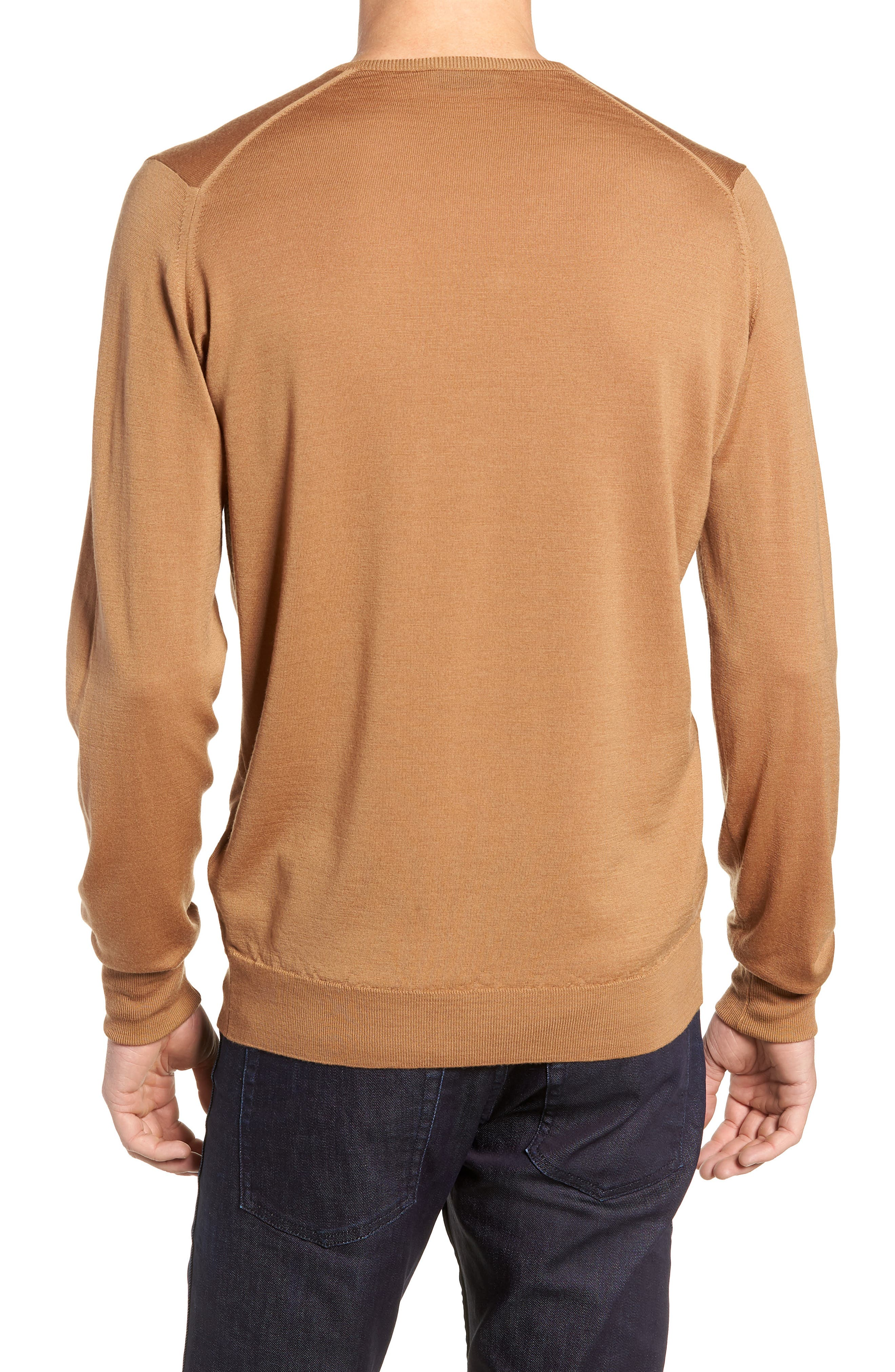 'Bobby' Easy Fit V Neck Wool Sweater,                             Alternate thumbnail 2, color,                             251