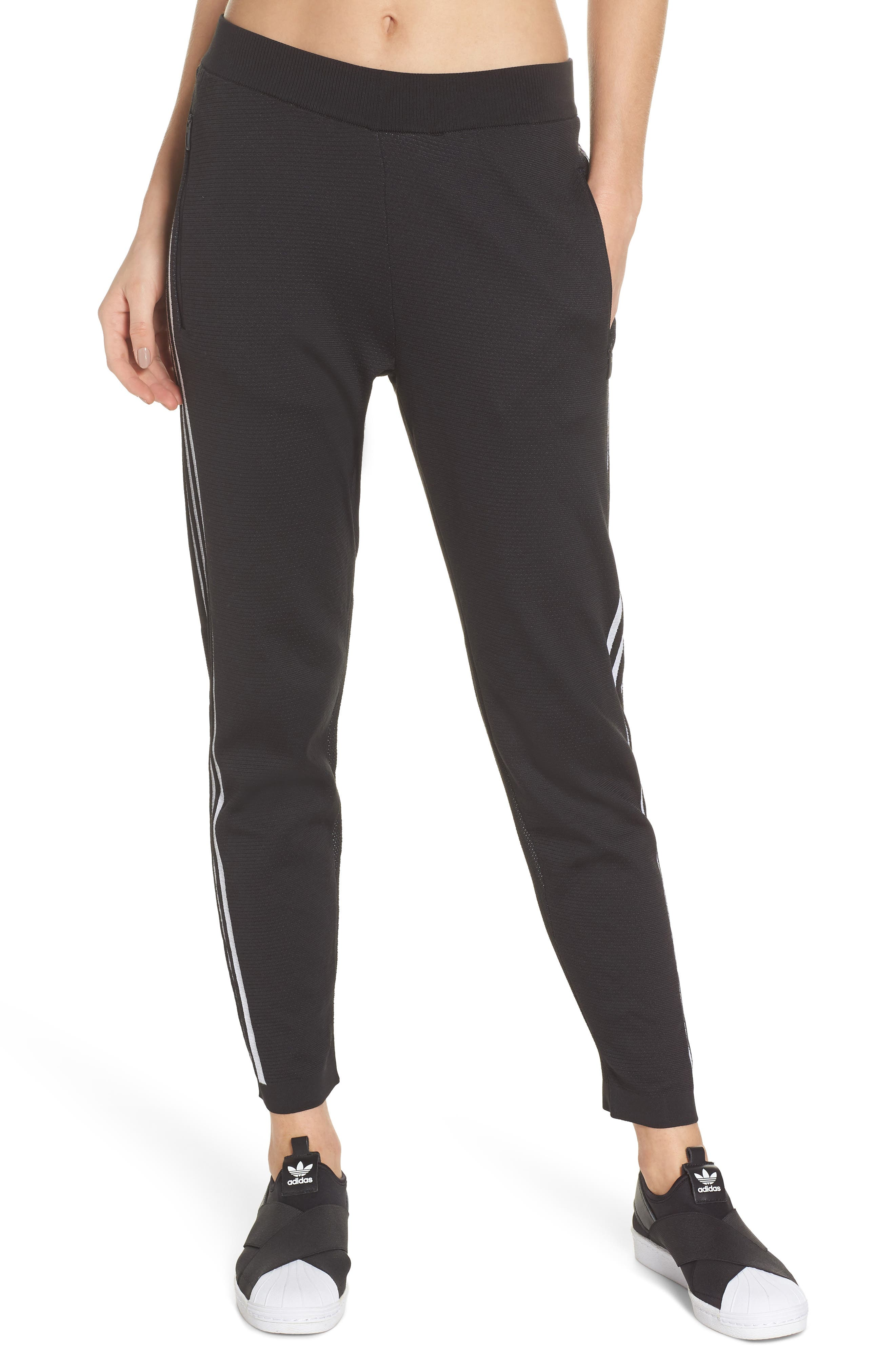 ID Striker Knit Pants,                         Main,                         color, BLACK