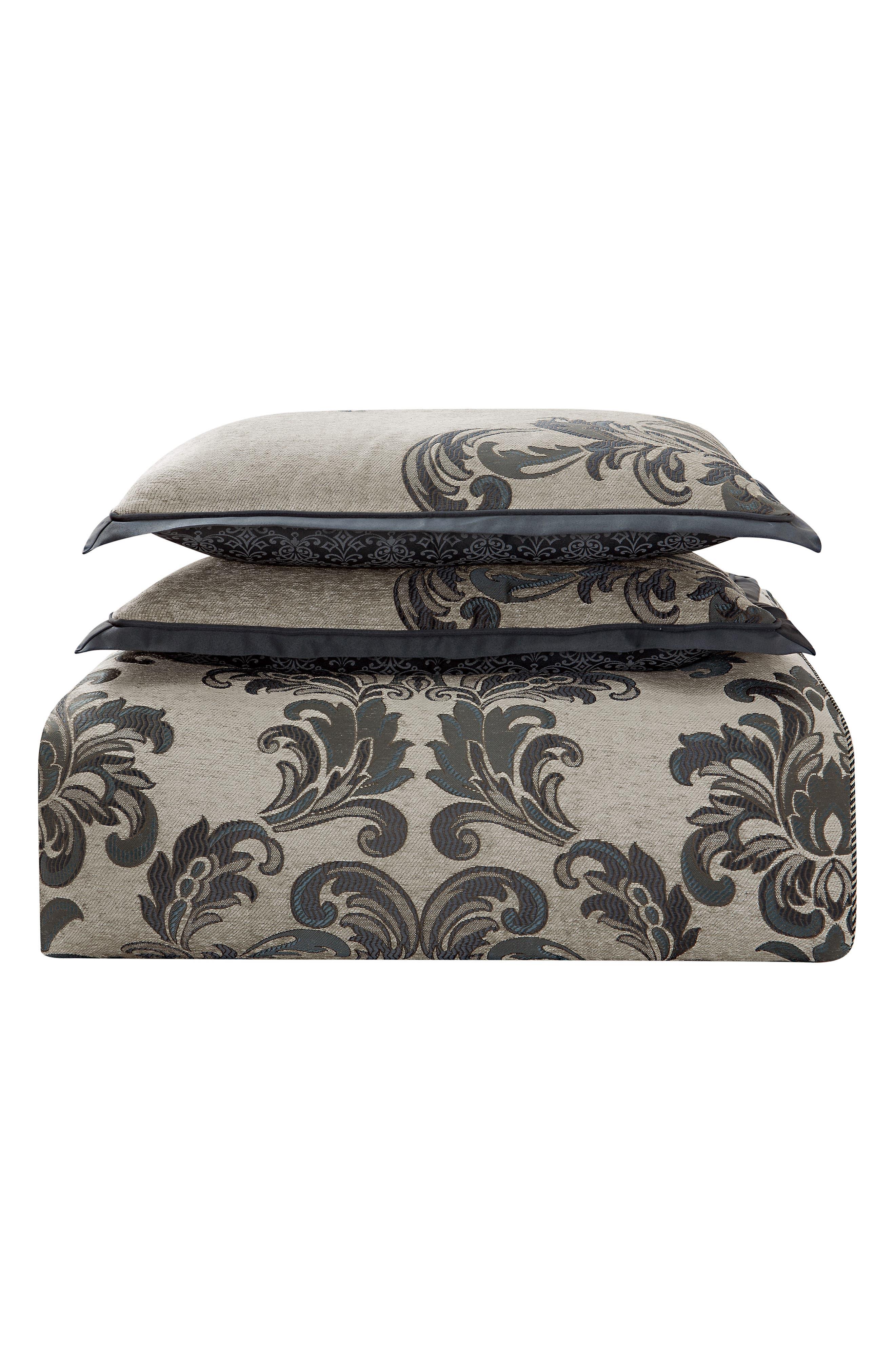 Everett Reversible Comforter, Sham & Bed Skirt Set,                             Alternate thumbnail 4, color,                             TEAL