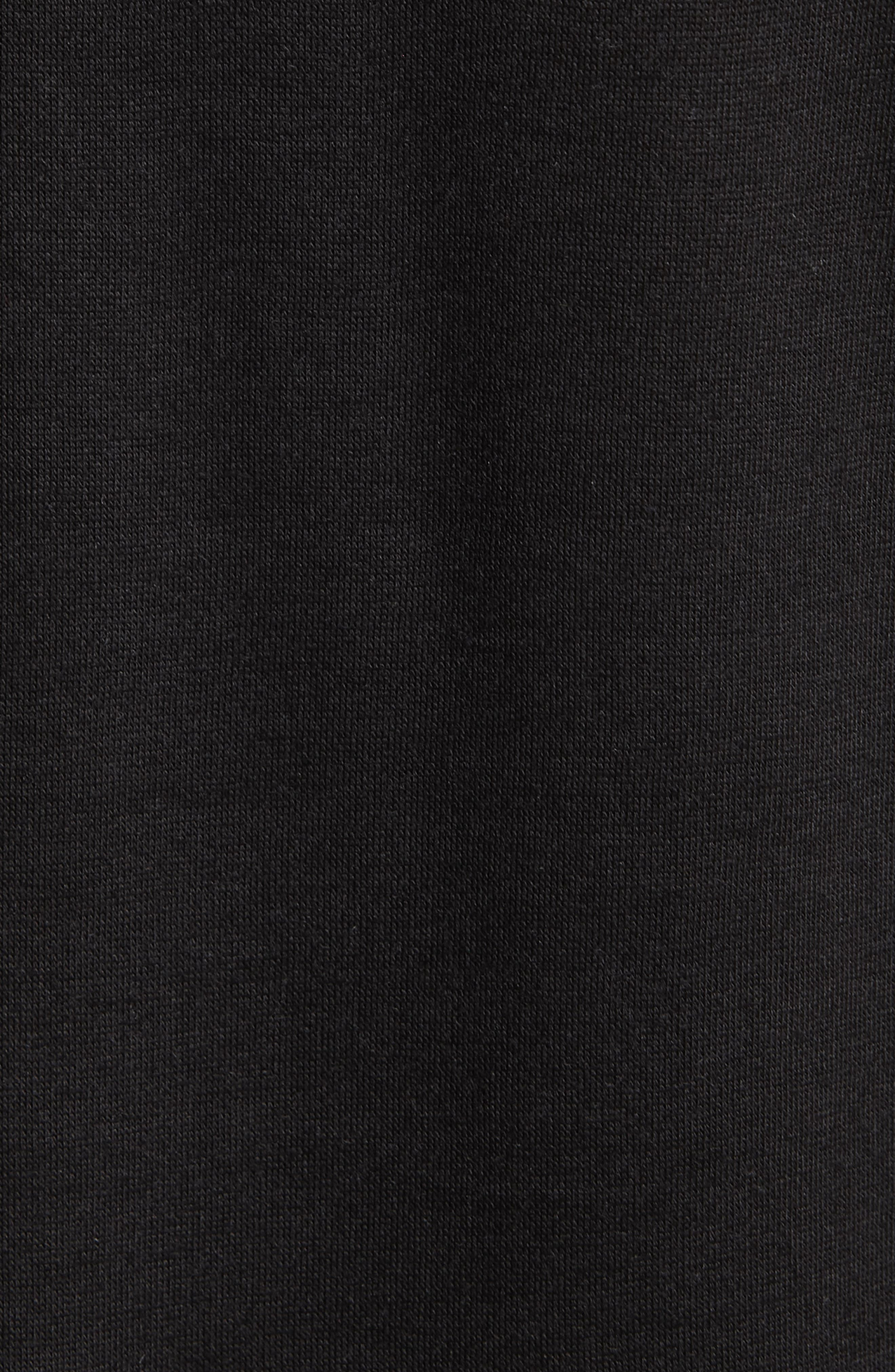 Daneli Narnia Ruffle Sleeve Top,                             Alternate thumbnail 5, color,                             BLACK