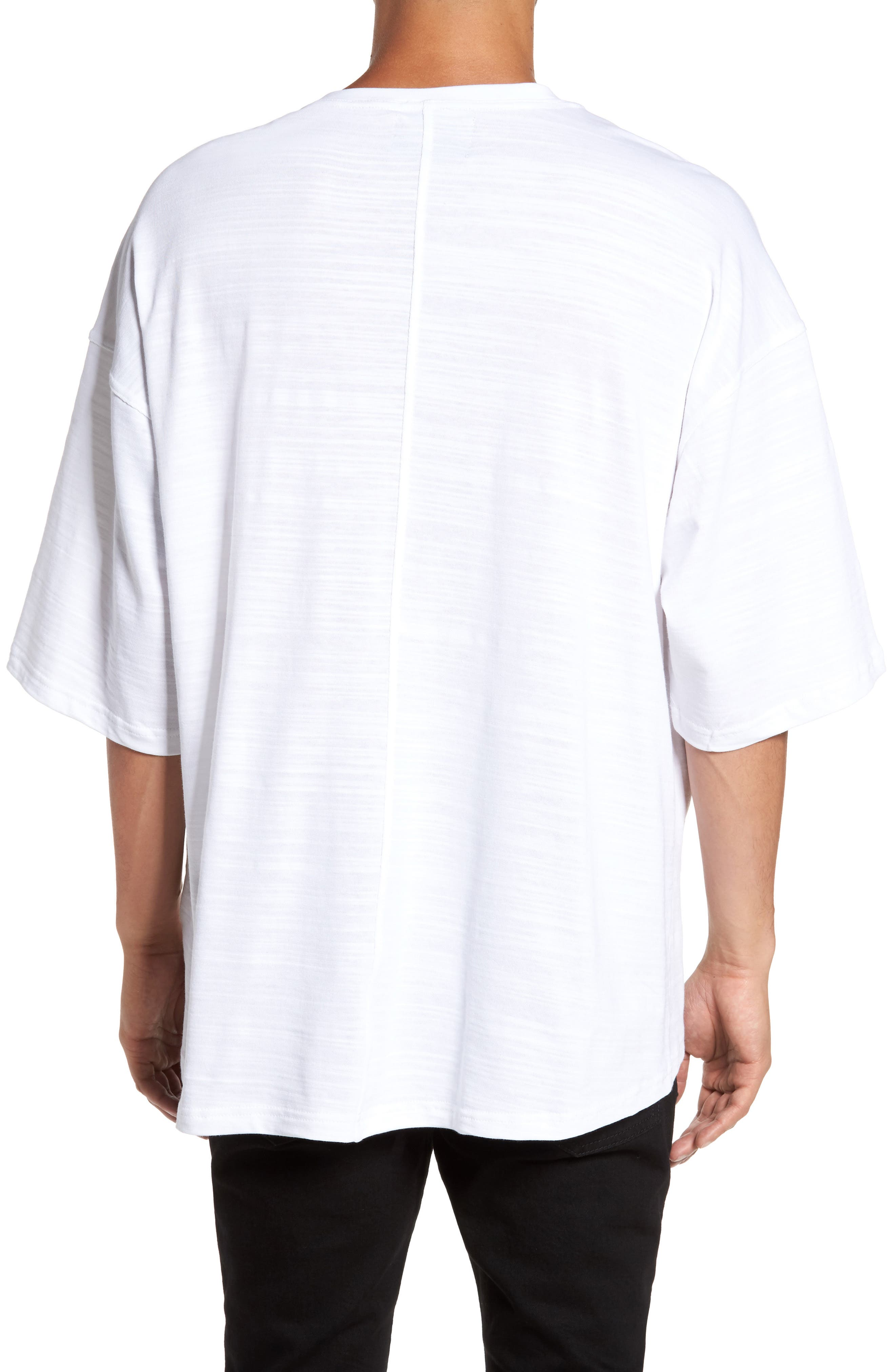 Relaxed Fit Crewneck T-Shirt,                             Alternate thumbnail 4, color,