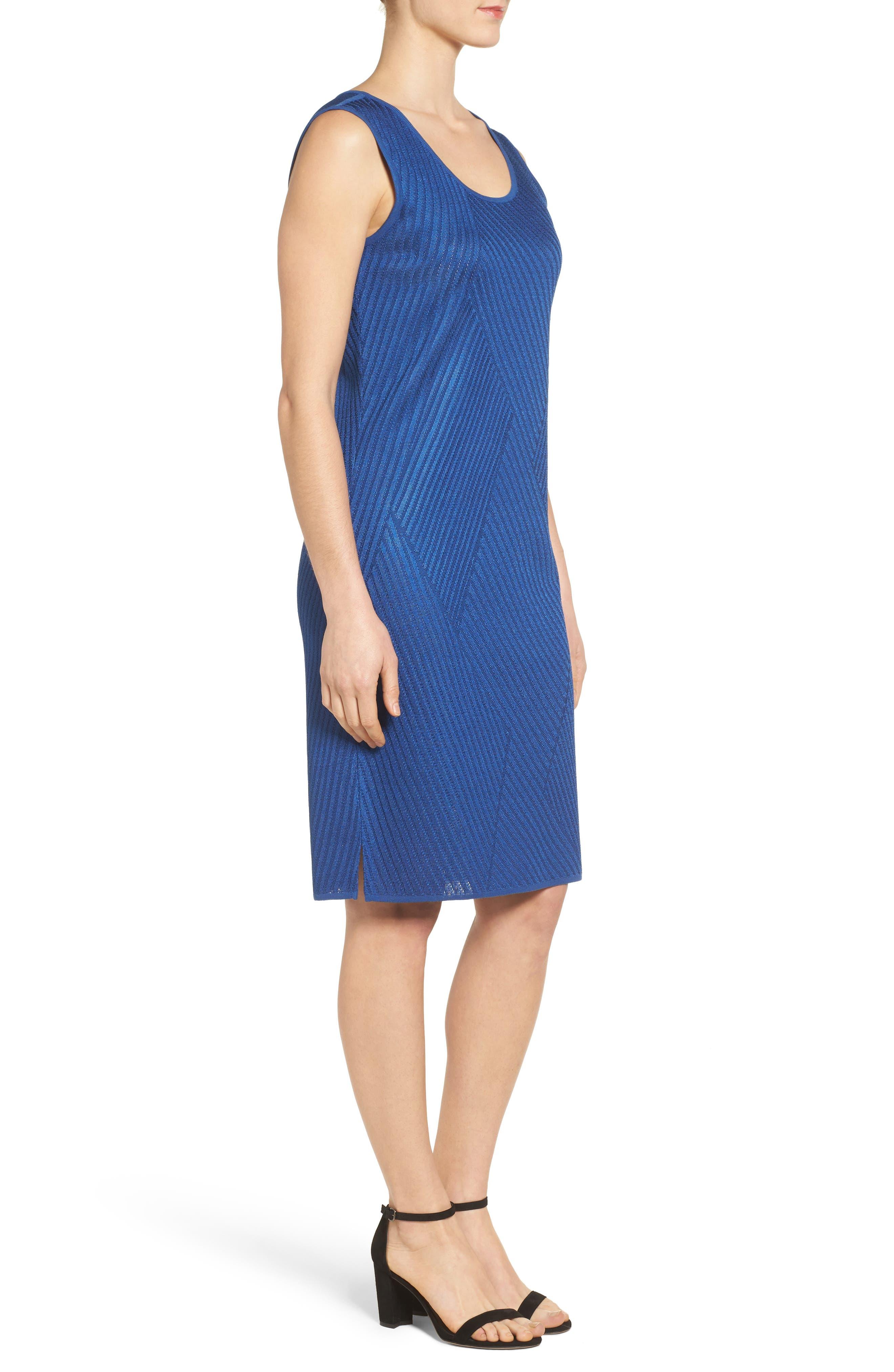 Texture Knit Sheath Dress,                             Alternate thumbnail 4, color,