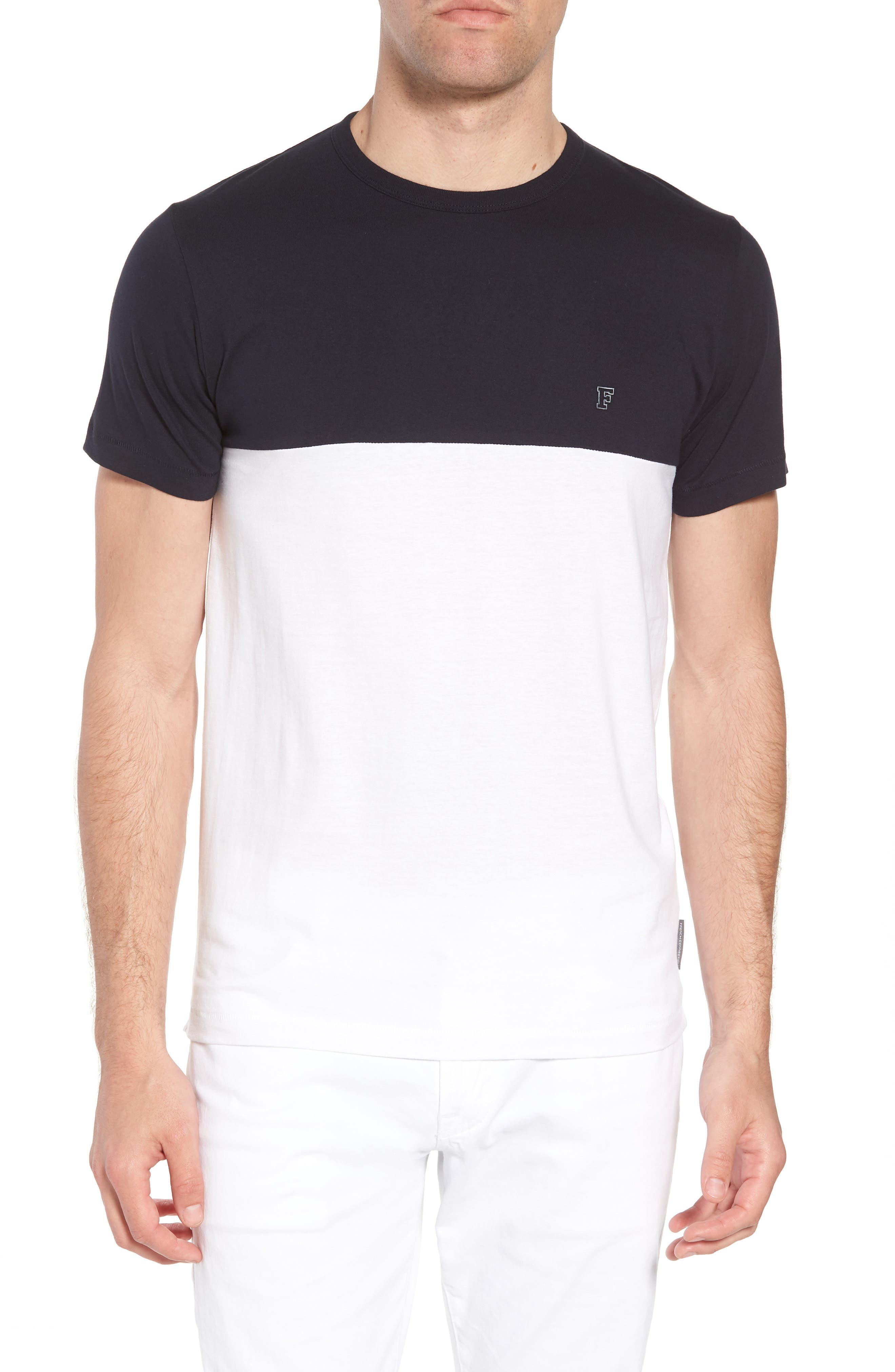 Block Crewneck T-Shirt,                             Main thumbnail 1, color,