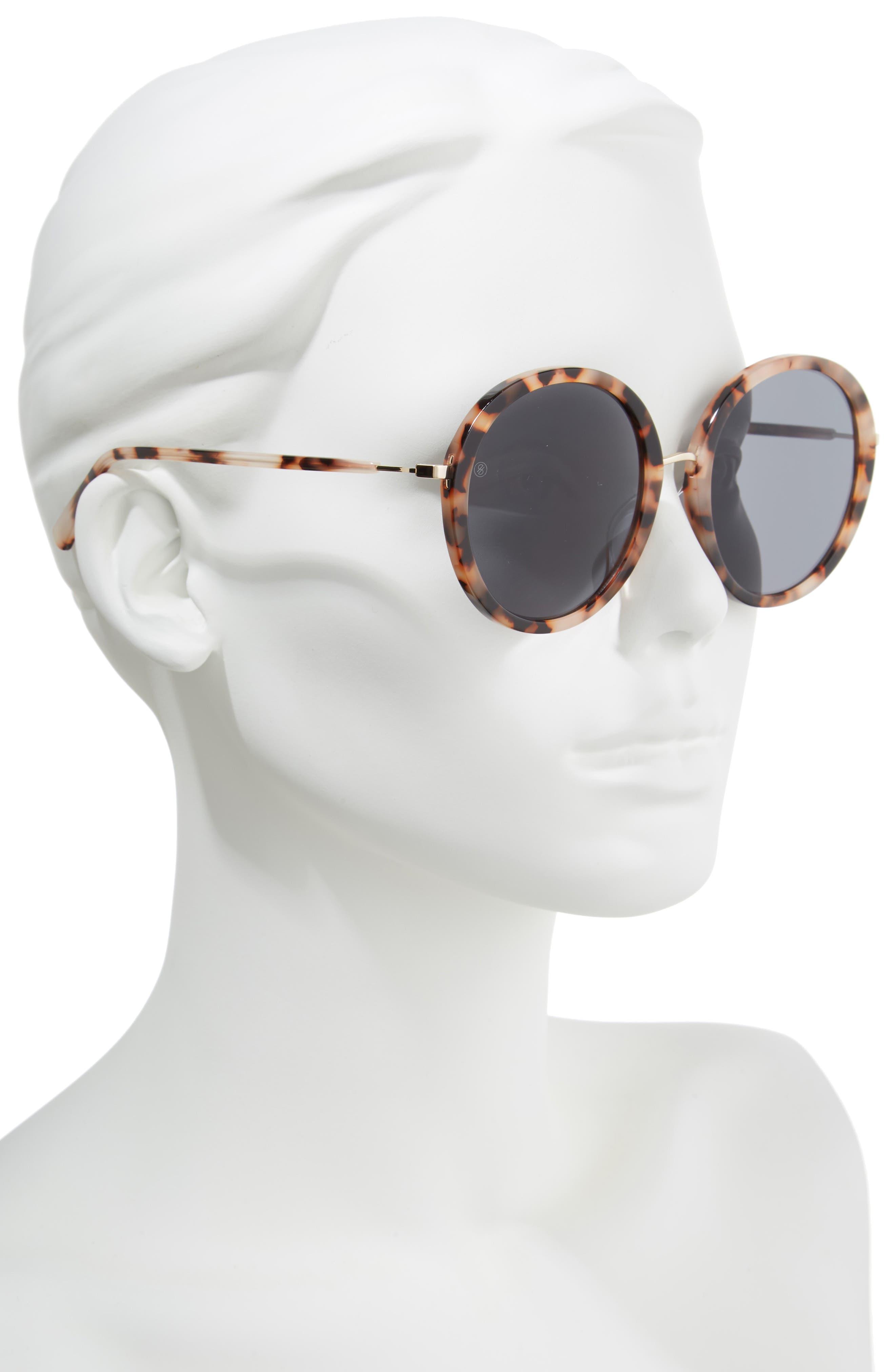 D'BLANC Prose 56mm Round Sunglasses,                             Alternate thumbnail 2, color,                             200