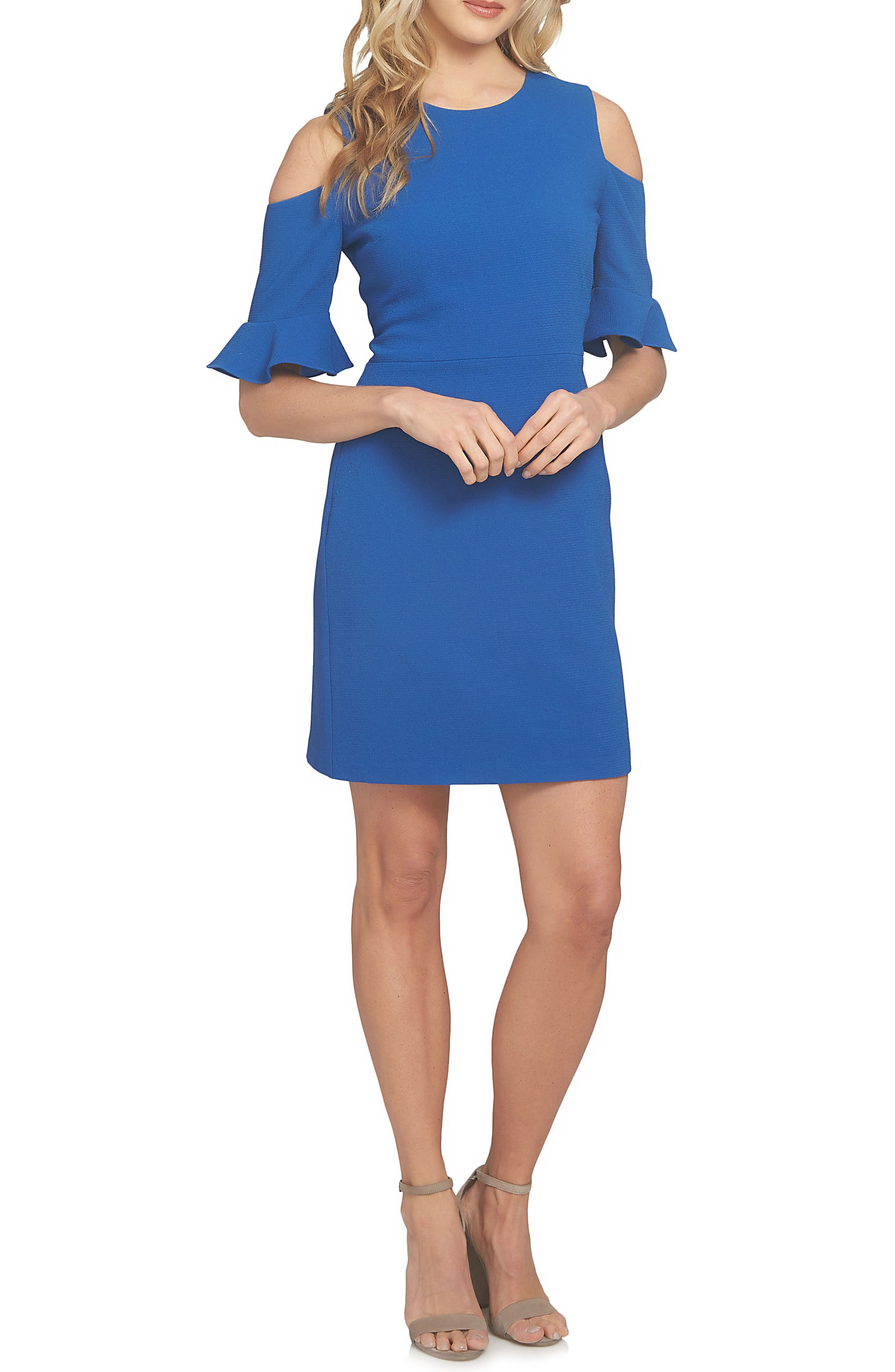 Emily Cold Shoulder Sheath Dress,                             Main thumbnail 2, color,