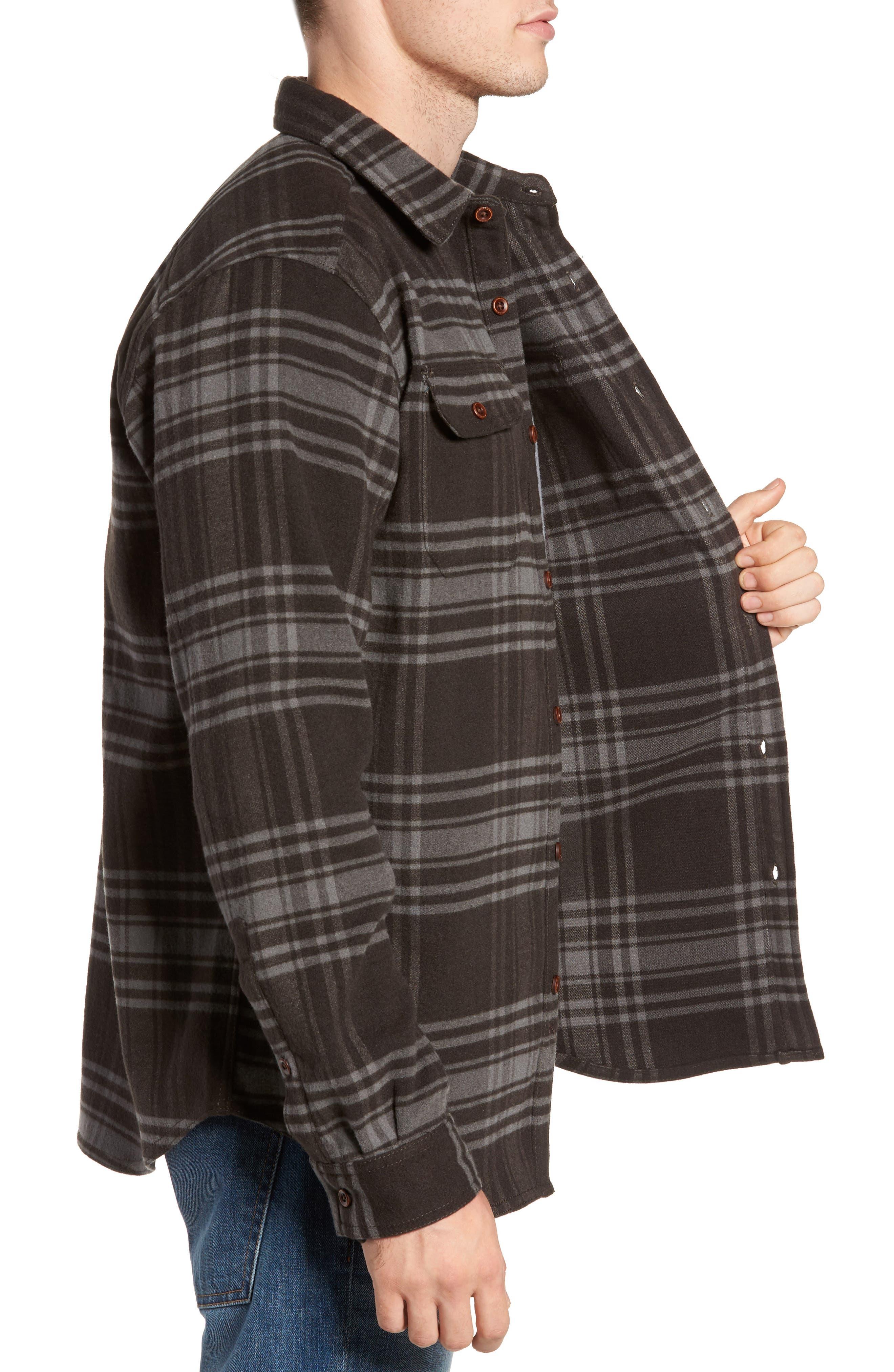 Deschutes River<sup>™</sup> Heavyweight Flannel Shirt Jacket,                             Alternate thumbnail 3, color,                             200