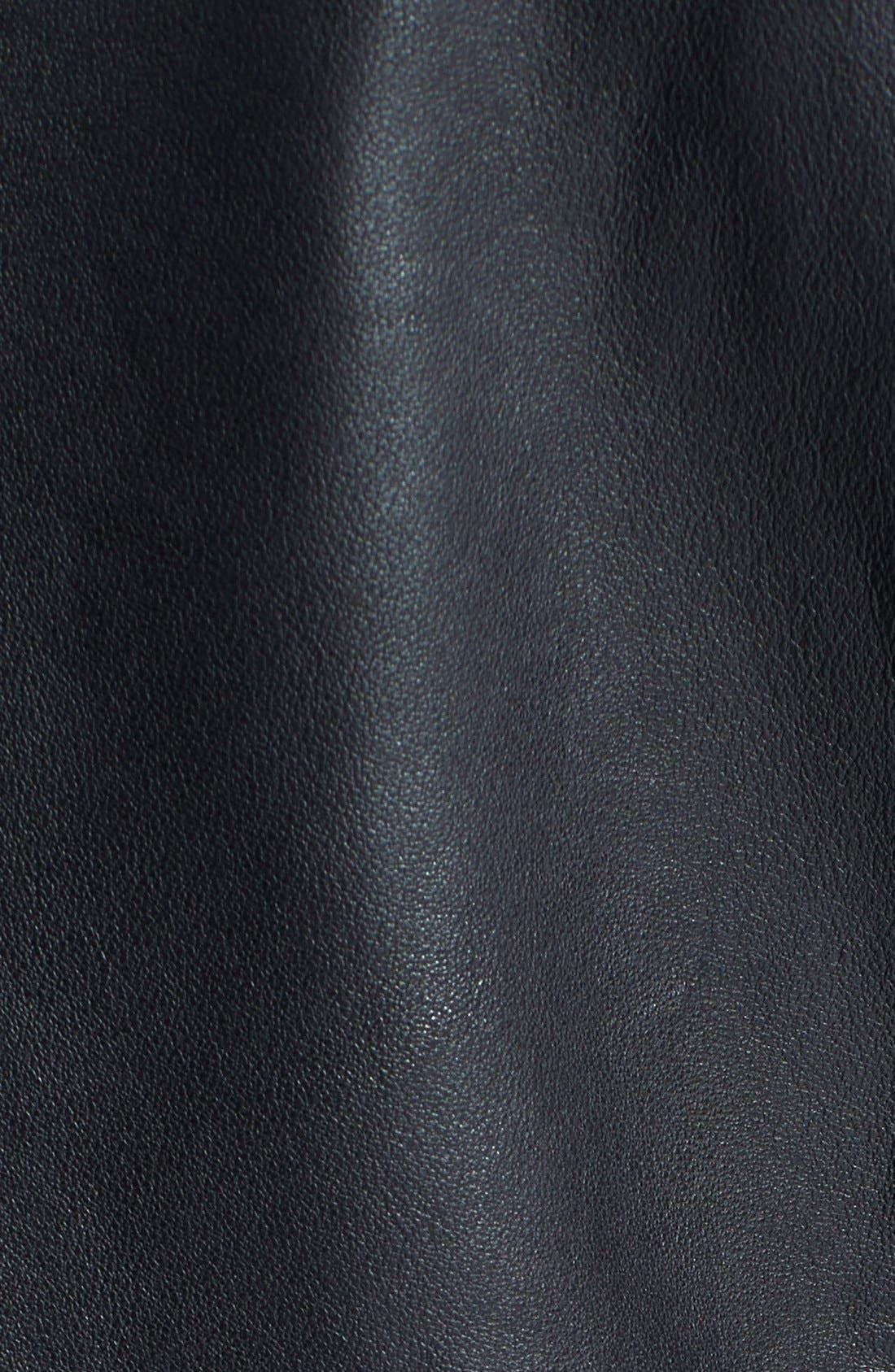 Quilted Leather Jacket,                             Alternate thumbnail 4, color,                             002