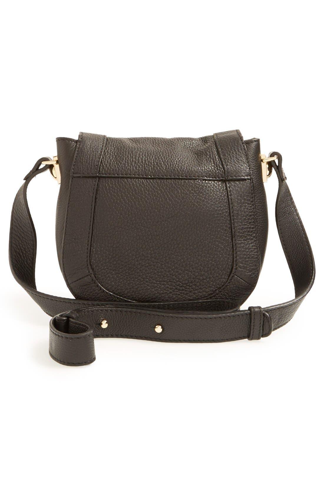 'Mini Sadie' Leather Crossbody Bag,                             Alternate thumbnail 6, color,                             001