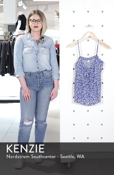 Print Tie Front Camisole, sales video thumbnail