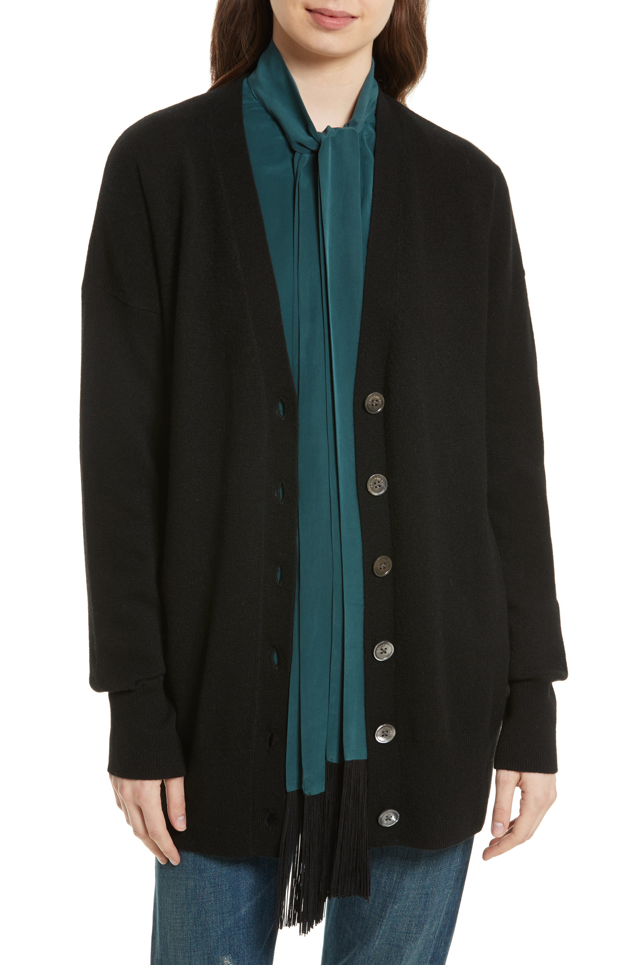 Gia Cashmere Button Cardigan,                             Main thumbnail 1, color,                             001