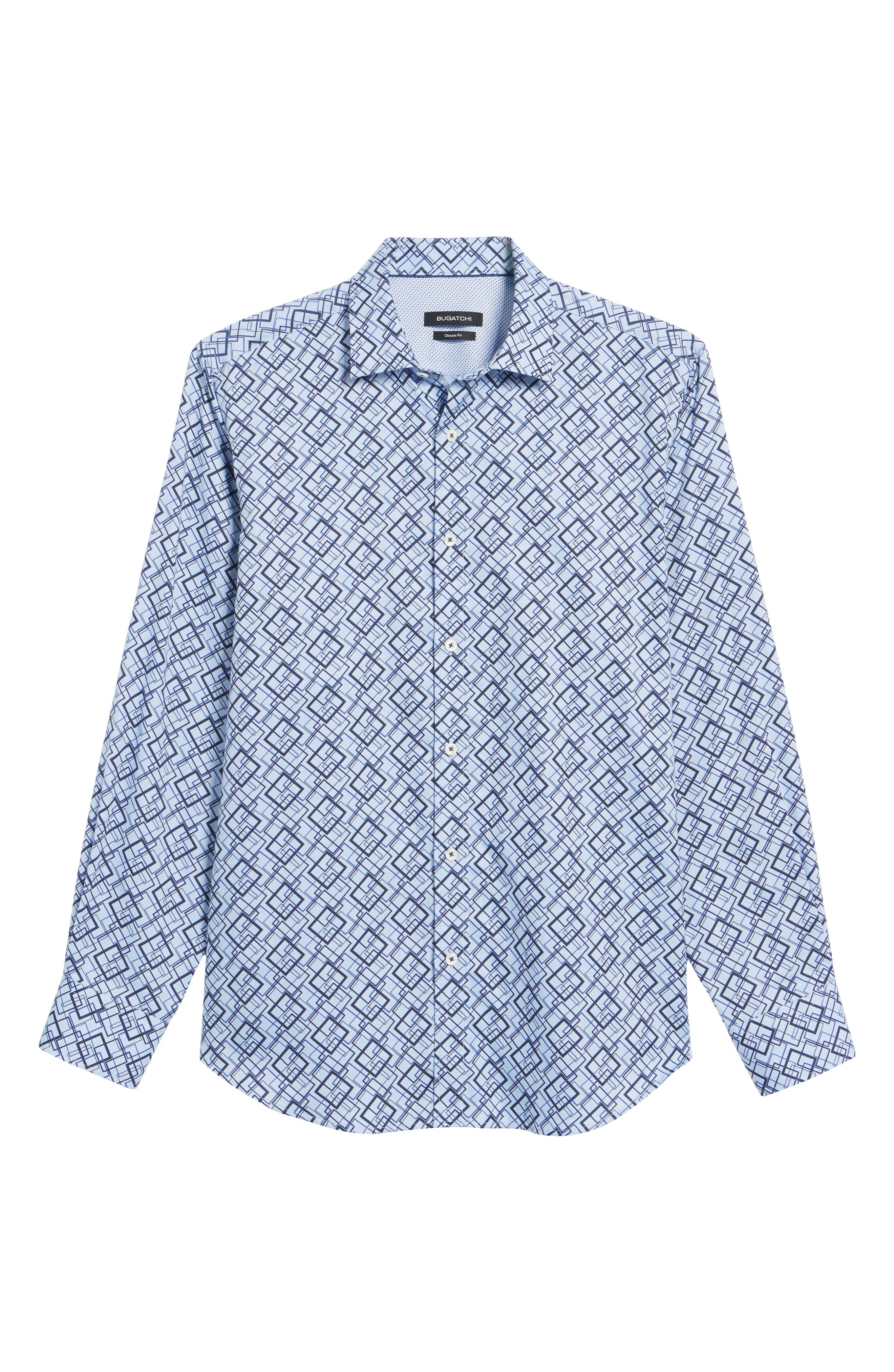 Classic Fit Woven Sport Shirt,                             Alternate thumbnail 6, color,                             422