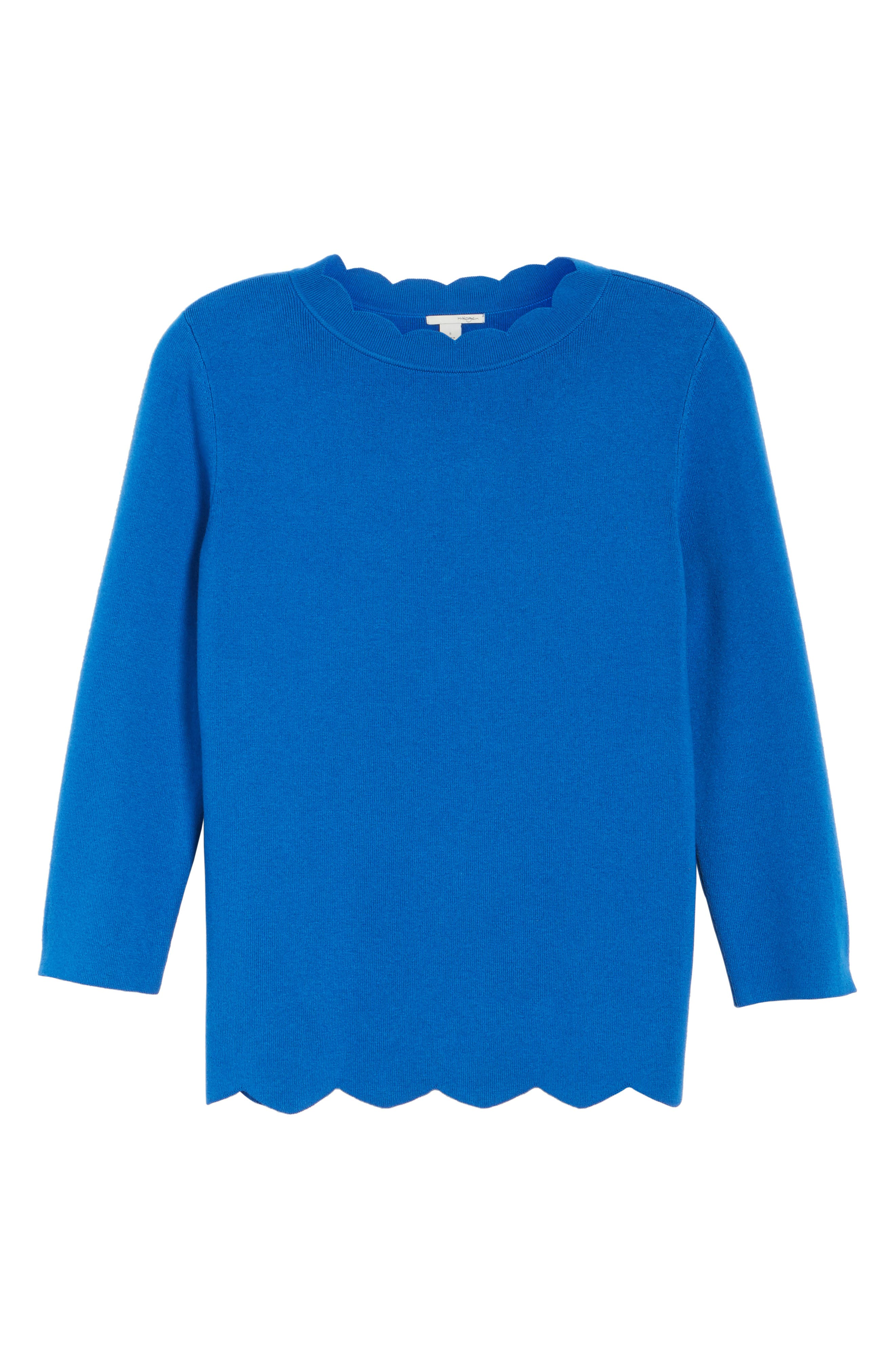Halogen Scallop Edge Sweater,                             Alternate thumbnail 62, color,